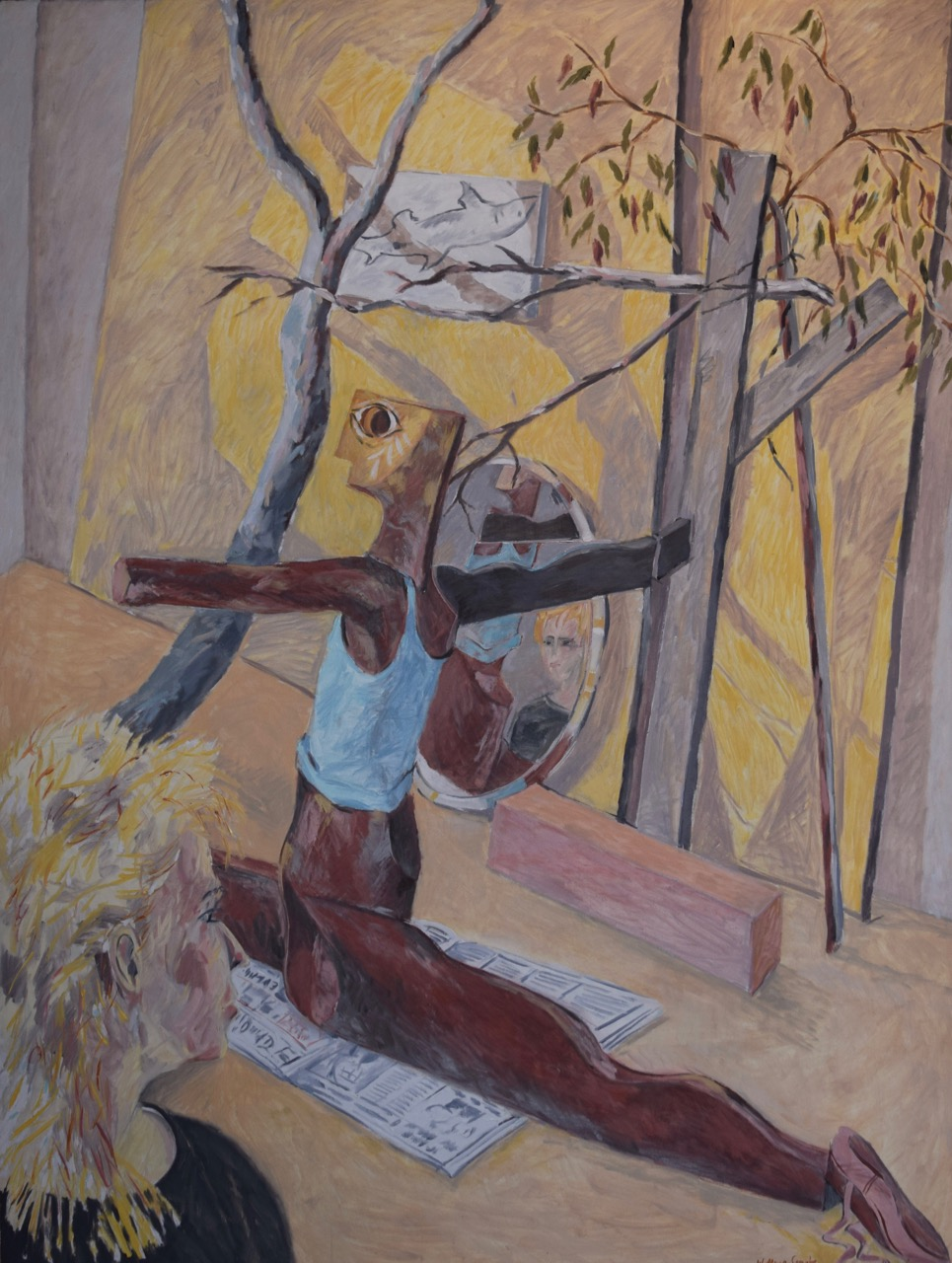 The wooden dancer , oil paint on canvas, 1984