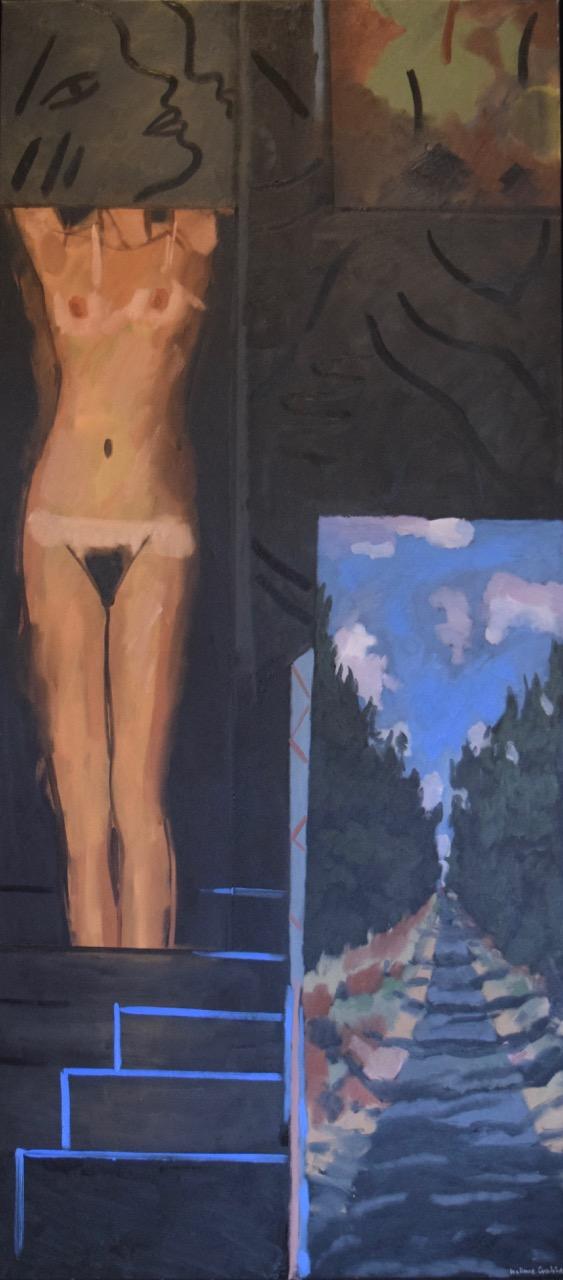 Bodyscape landscape , oil paint on canvas, 2004