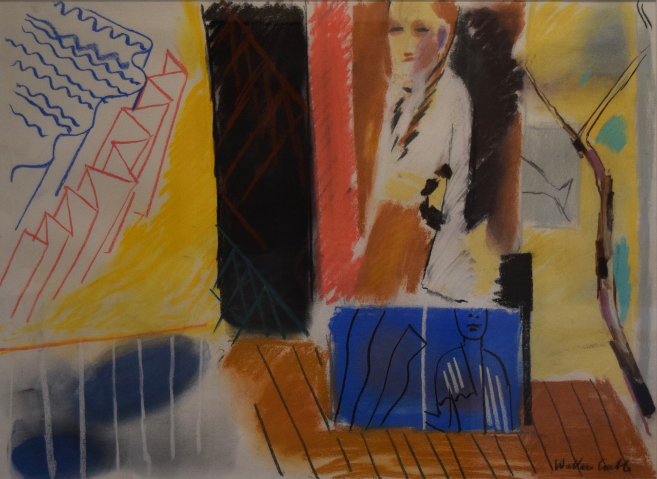 Facing education at the world's edge , pastel on paper, 1997