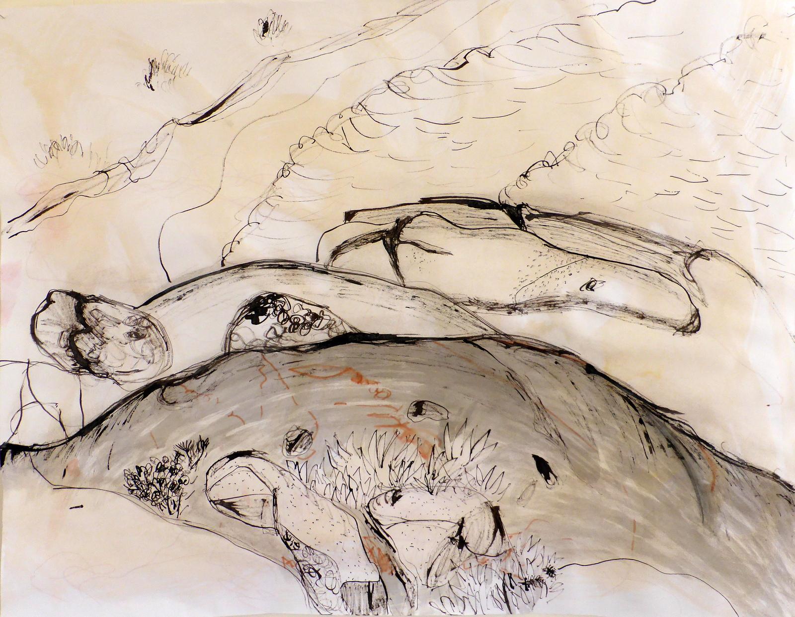 Water Trees 2 , Katherine White, wood block print