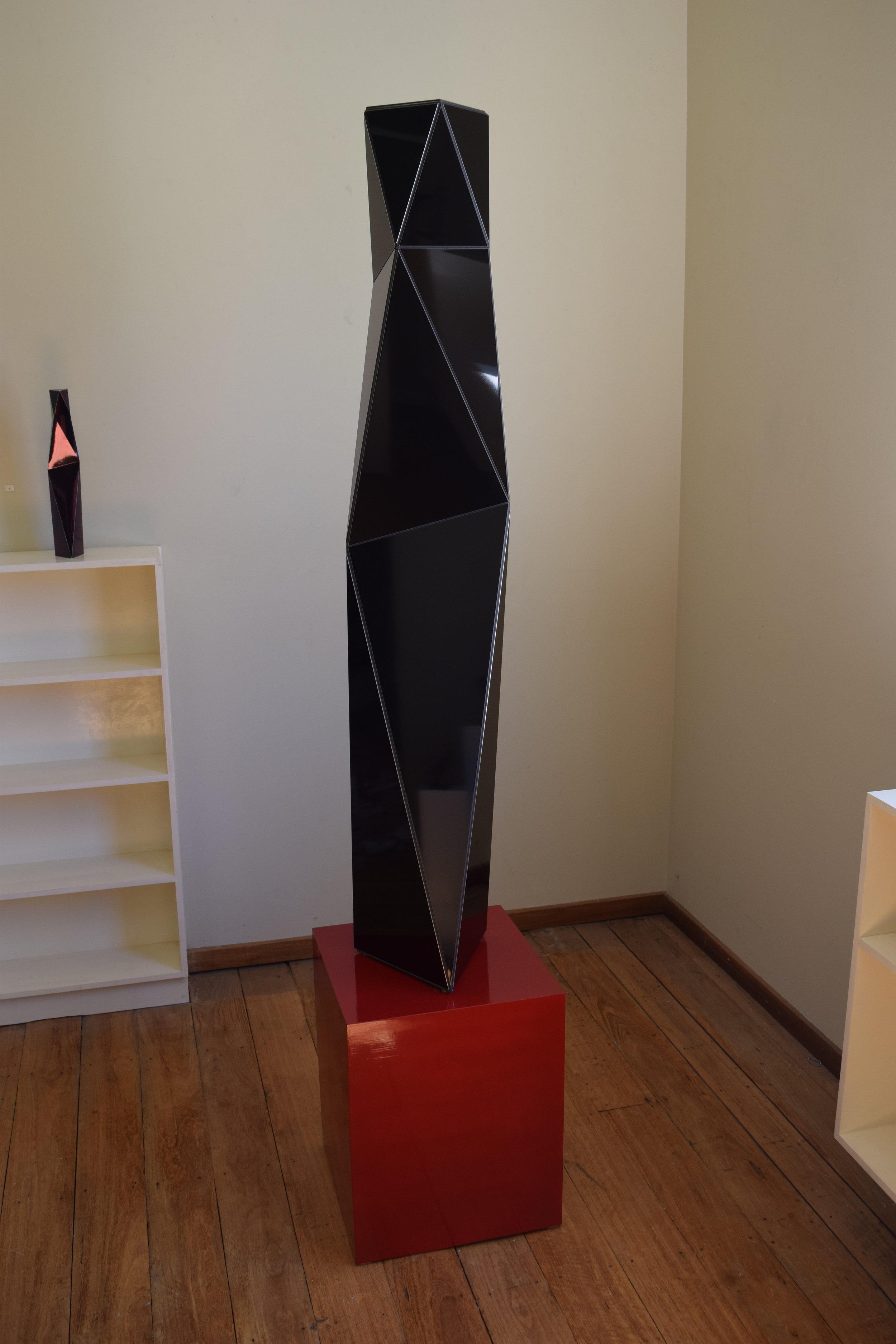 Ambiguity black , Gilbert Riedelbauch, composite aluminium panel, 2019