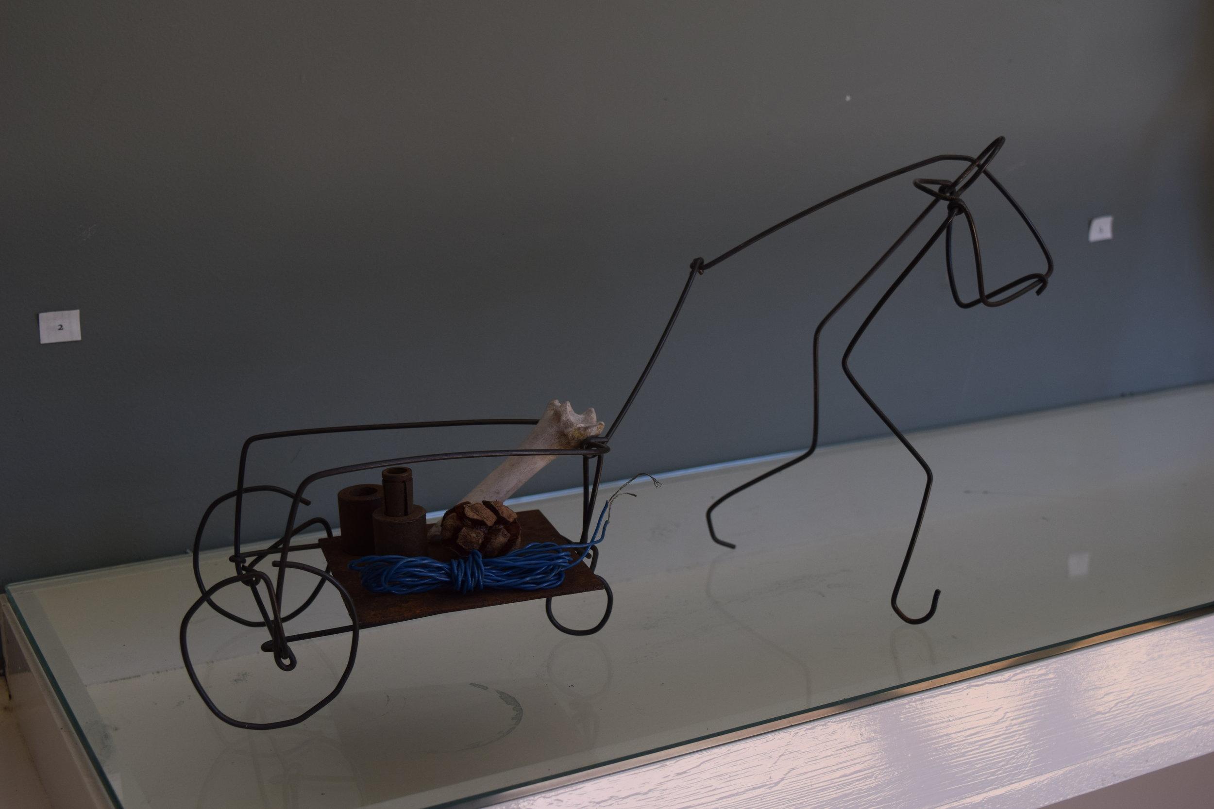 Drawing #1 , Harry Townsend, wire, steel, seedpod, 2019
