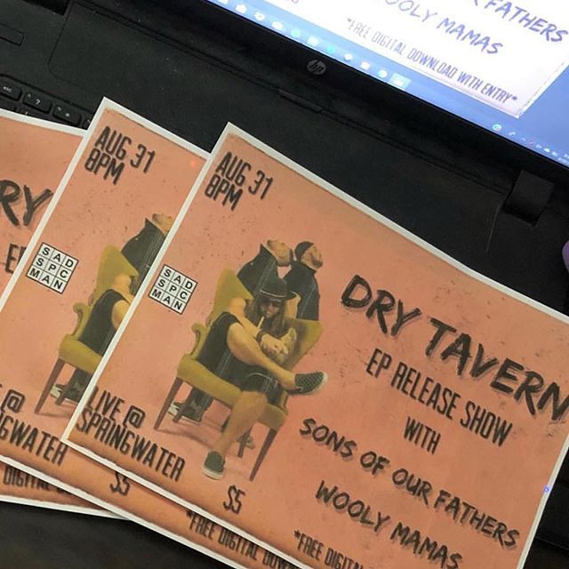#Repost @springwaterdive with @get_repost ・・・ Alright so let's talk about tonight. @drytavern  is doing their EP release show with @thewoolymamas and Sons of Our Fathers. . It's a $5 cover and starts at 8, but that's when Happy Hour ends, so you really want to get here at like, 7. Sound like a plan? . Good talk.