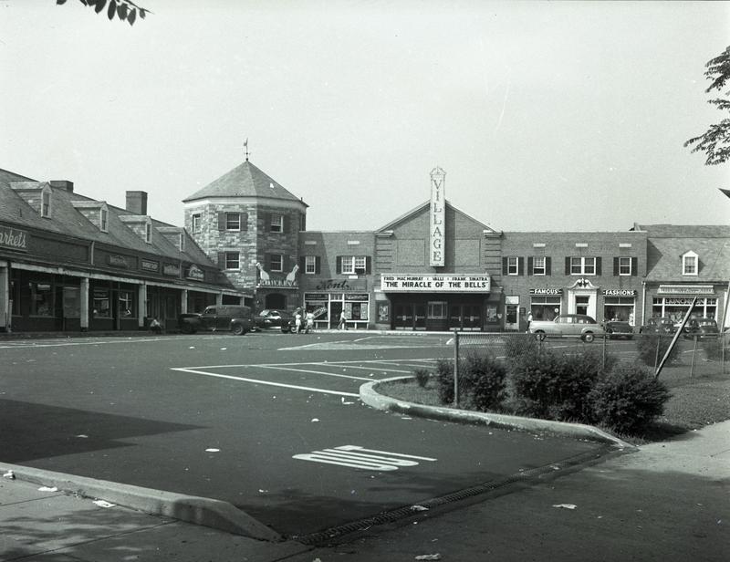 Brentwood Gardens Shopping Center Village Theatre, ca. 1948
