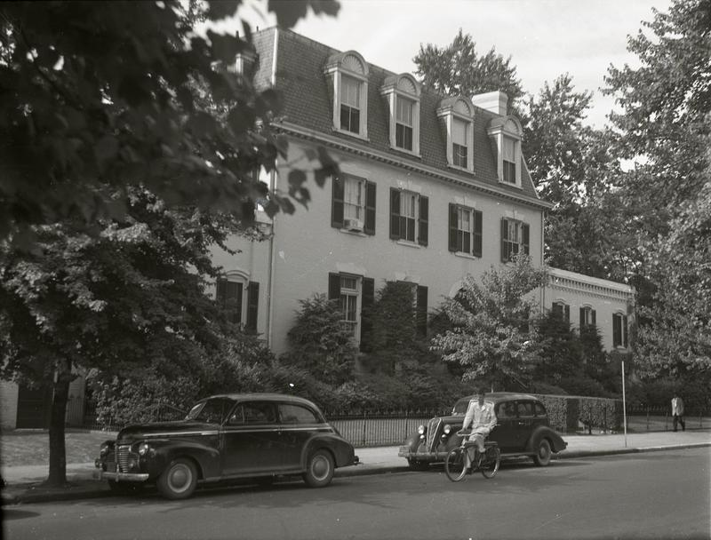 Marine Barracks on the south side of the 800 block of G Street SE, ca 1949