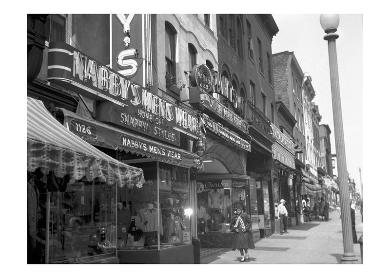 West side of 7th Street NW between L and M Streets, ca 1950