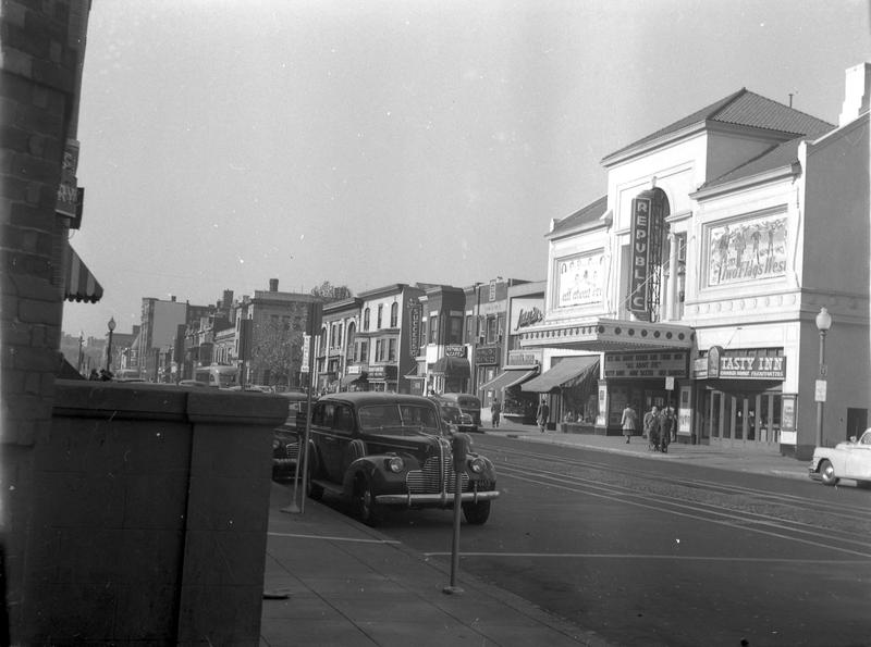 U Street NW between 13th and 14th Streets. North side, ca 1950