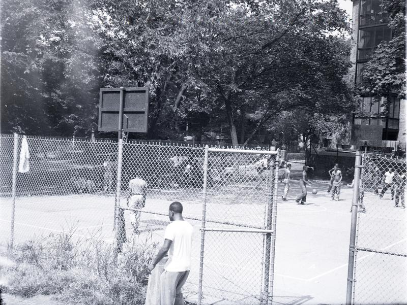 View over Kalorama Park at Columbia Road and 19th Street NW, ca 1951