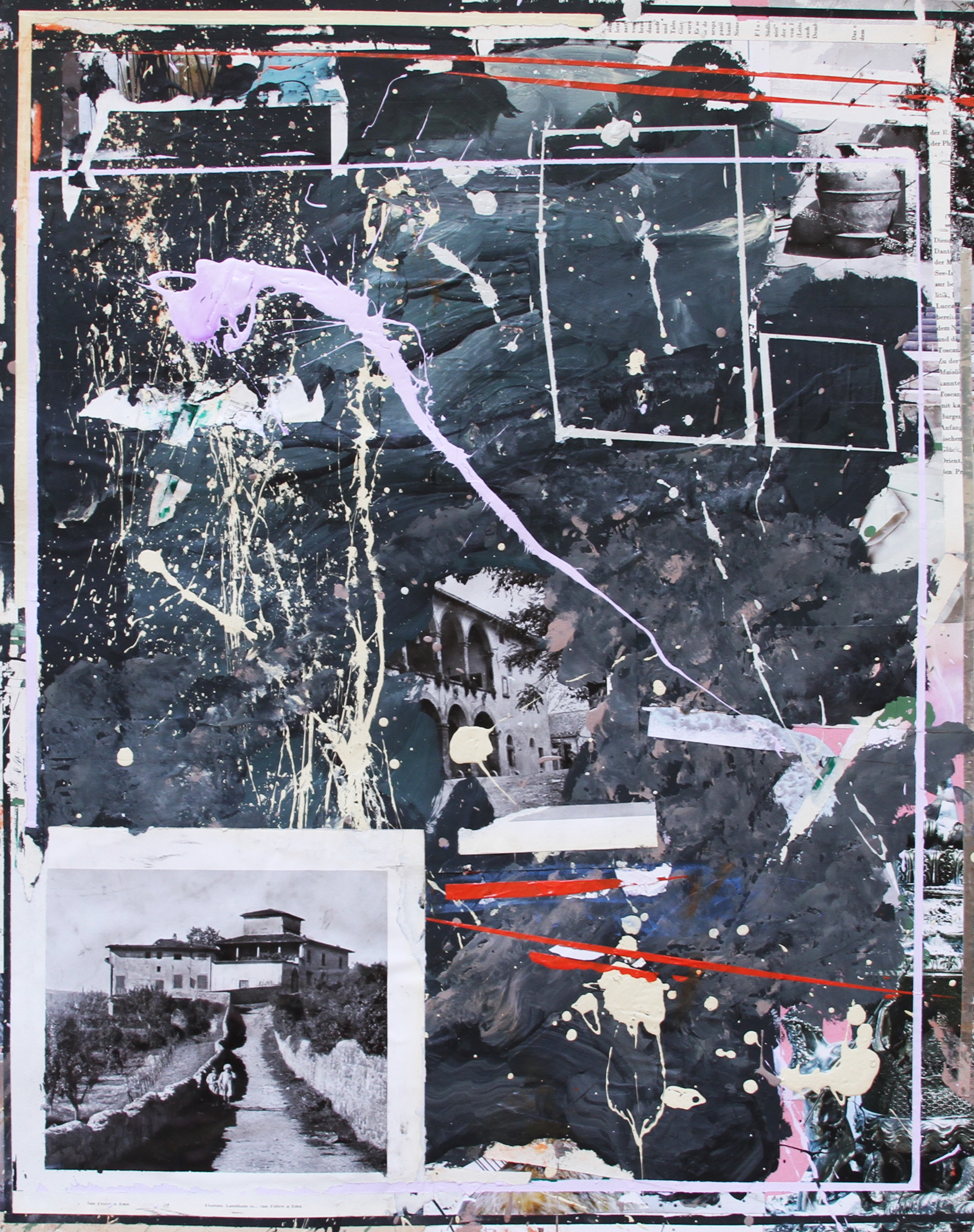 ARRANGEMENT 07   2015 Acrylic and collage on paper 28 x 22 in 71 x 56 cm
