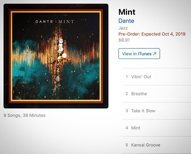 "One more day till ""MINT"" Available on all digital platforms.  Thanks to the incredible team that help put this project together. Your support will be much appreciated. Bringing some freshness to the #SmoothJazz scene . . . #sax #saxophone #saxony #saxo #saxophoneplayer #saxon #saxplayer #saxlife #smoothjazzmusic #smoothjazznews #smoothjazzspot #jazzfunk #jazz #jazzy #jazzfestival #jazzmusicians #newmusicalert #newmusicthursday #ジャズ #ミュージック #音楽 #サックス #instamusic #smoothjazzradio #smoothjazzartist"