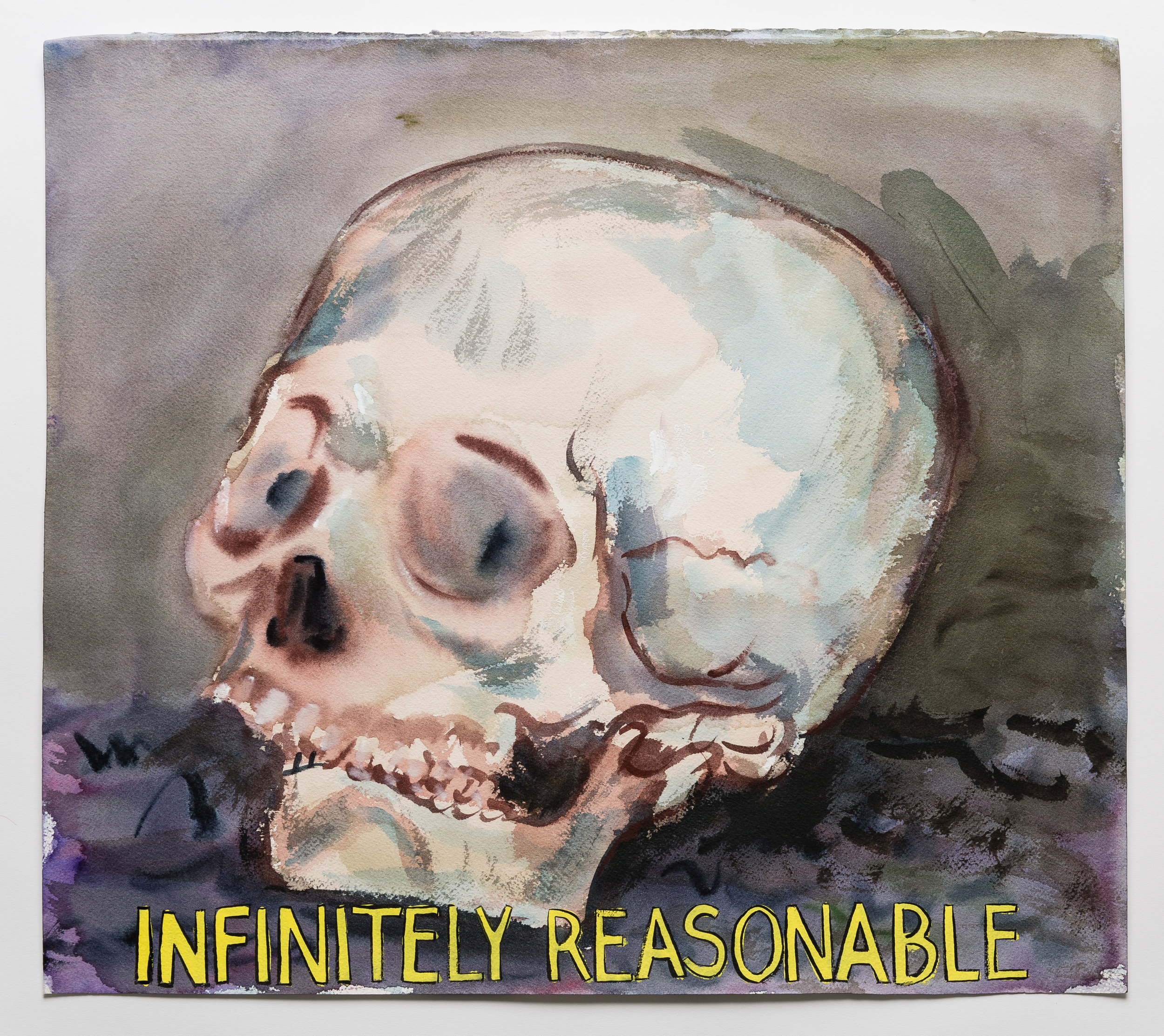 Infinitely Reasonable  2015   watercolor, gouache and ink on paper  18x20""