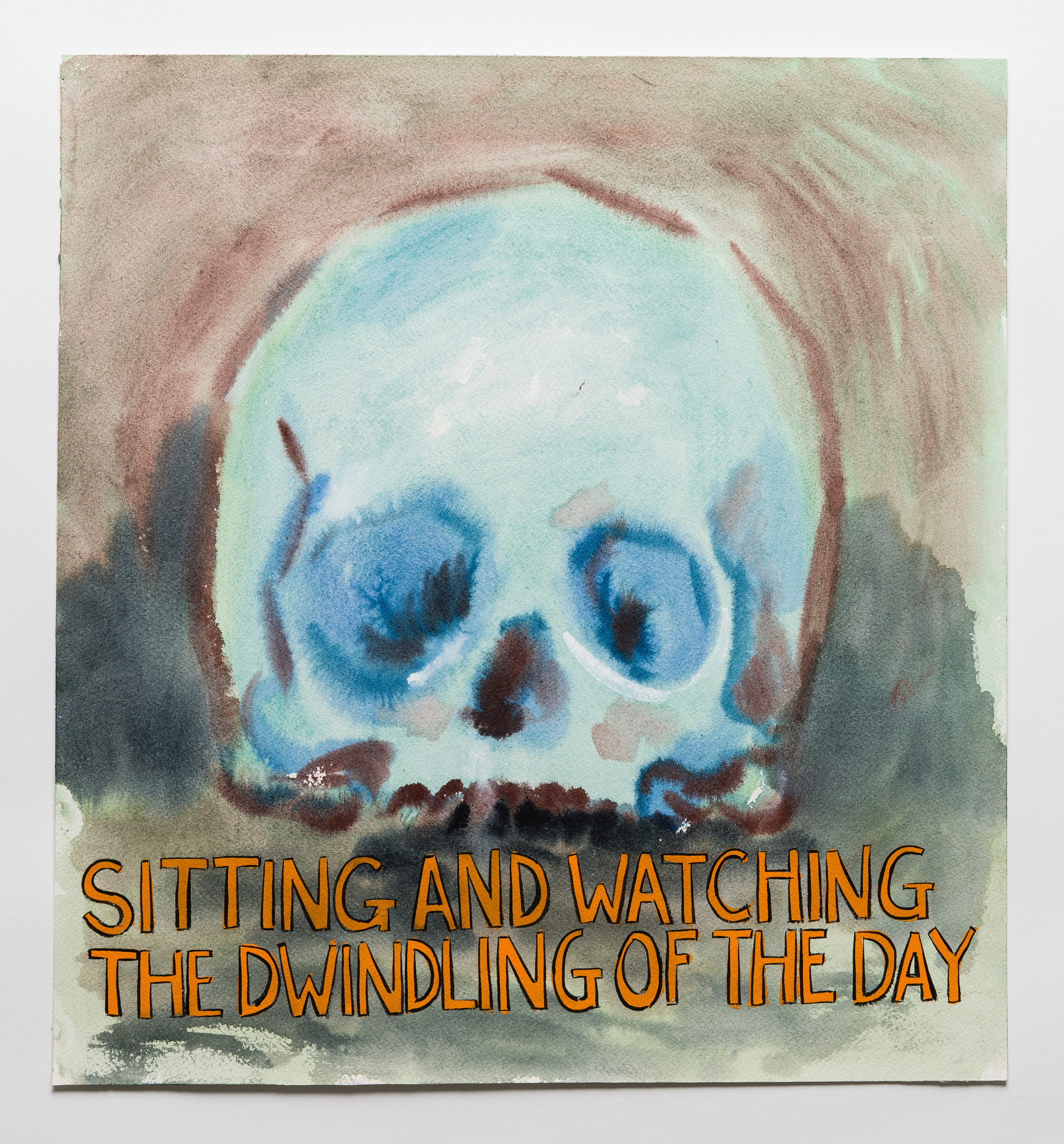 Sitting and Watching the Dwindling of the Day  2015 watercolor, gouache and ink on paper 16 x 14