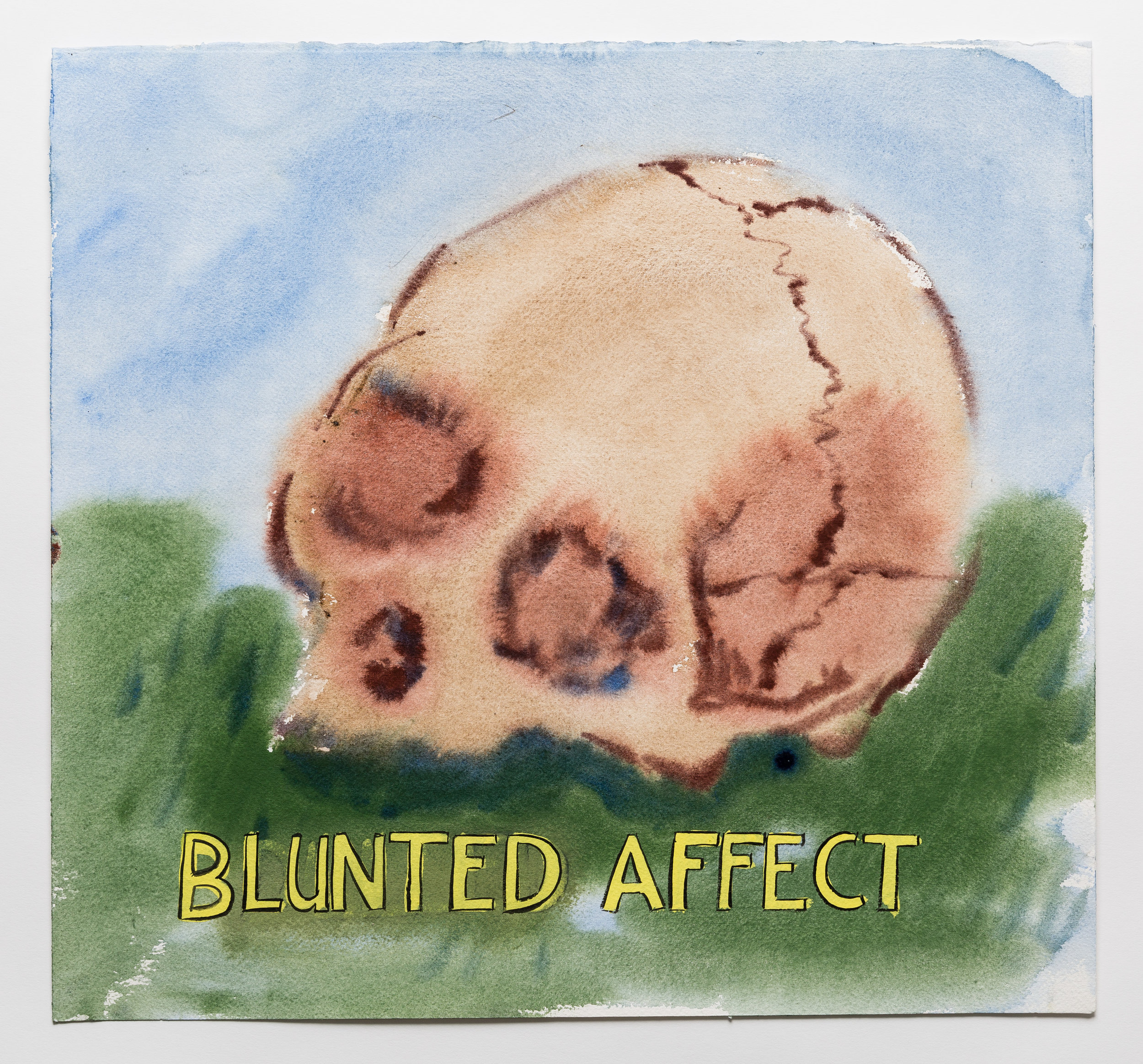 Blunted Affect    2015 Watercolor, gouache and ink on paper 15x16""