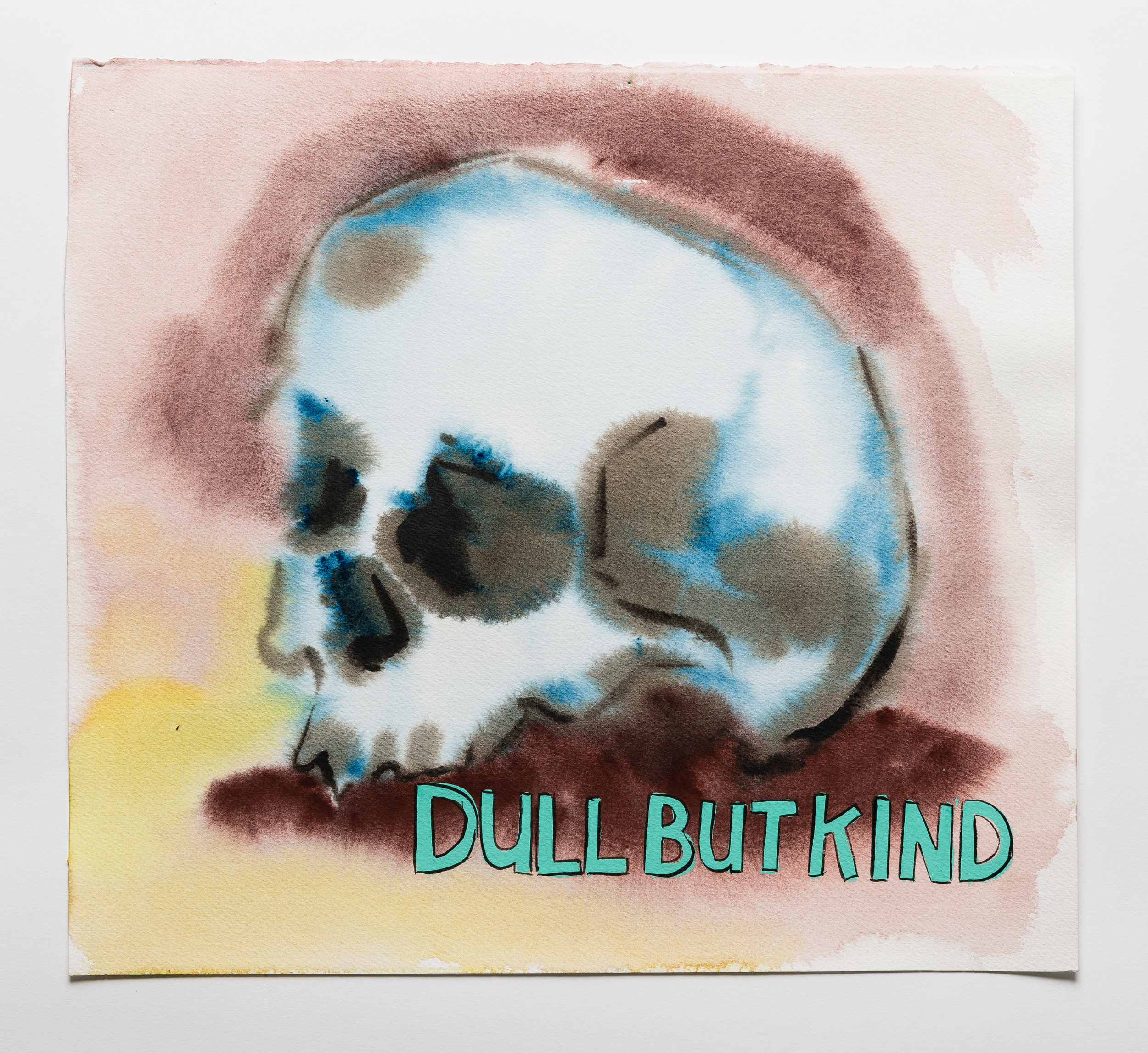 Dull But Kind  2015 watercolor, gouache and ink on paper