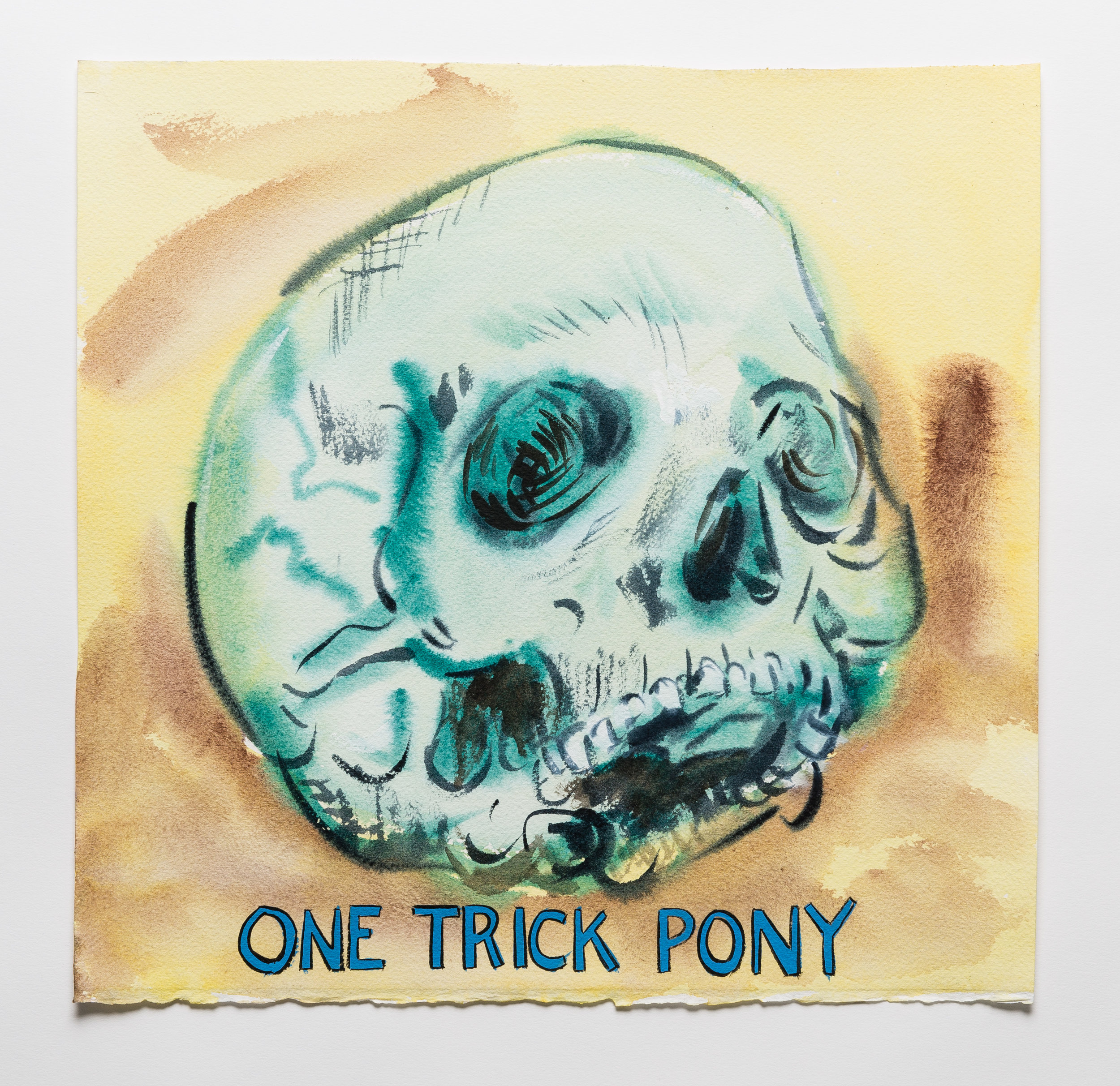One Trick Pony   2015 watercolor, gouache and ink on paper 11x11""