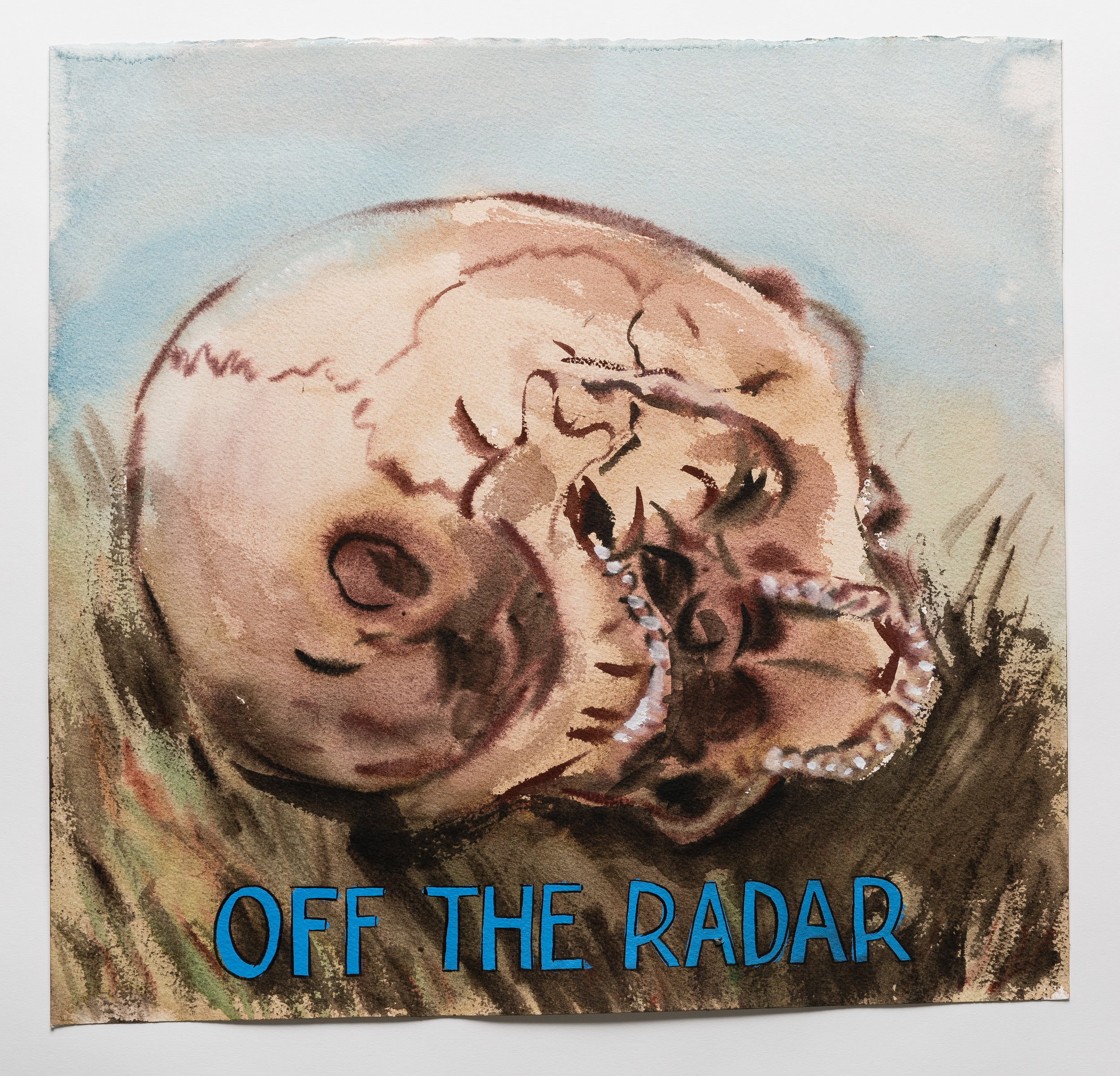 Off the Radar   2015 watercolor, gouache and ink on paper 17x18""