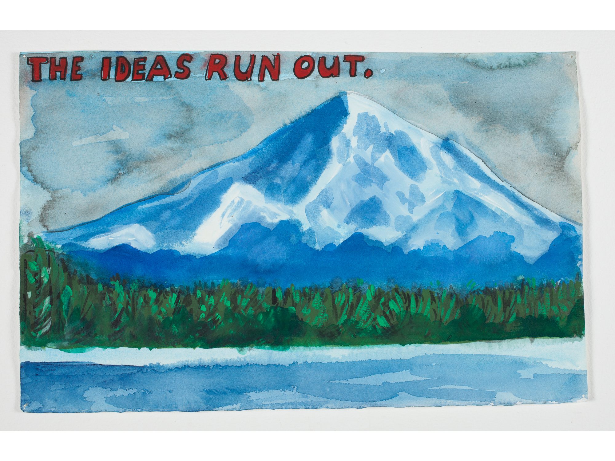 "The Ideas Run Out  .  1998 Watercolor + Gouache 14 1/2"" x 9"""