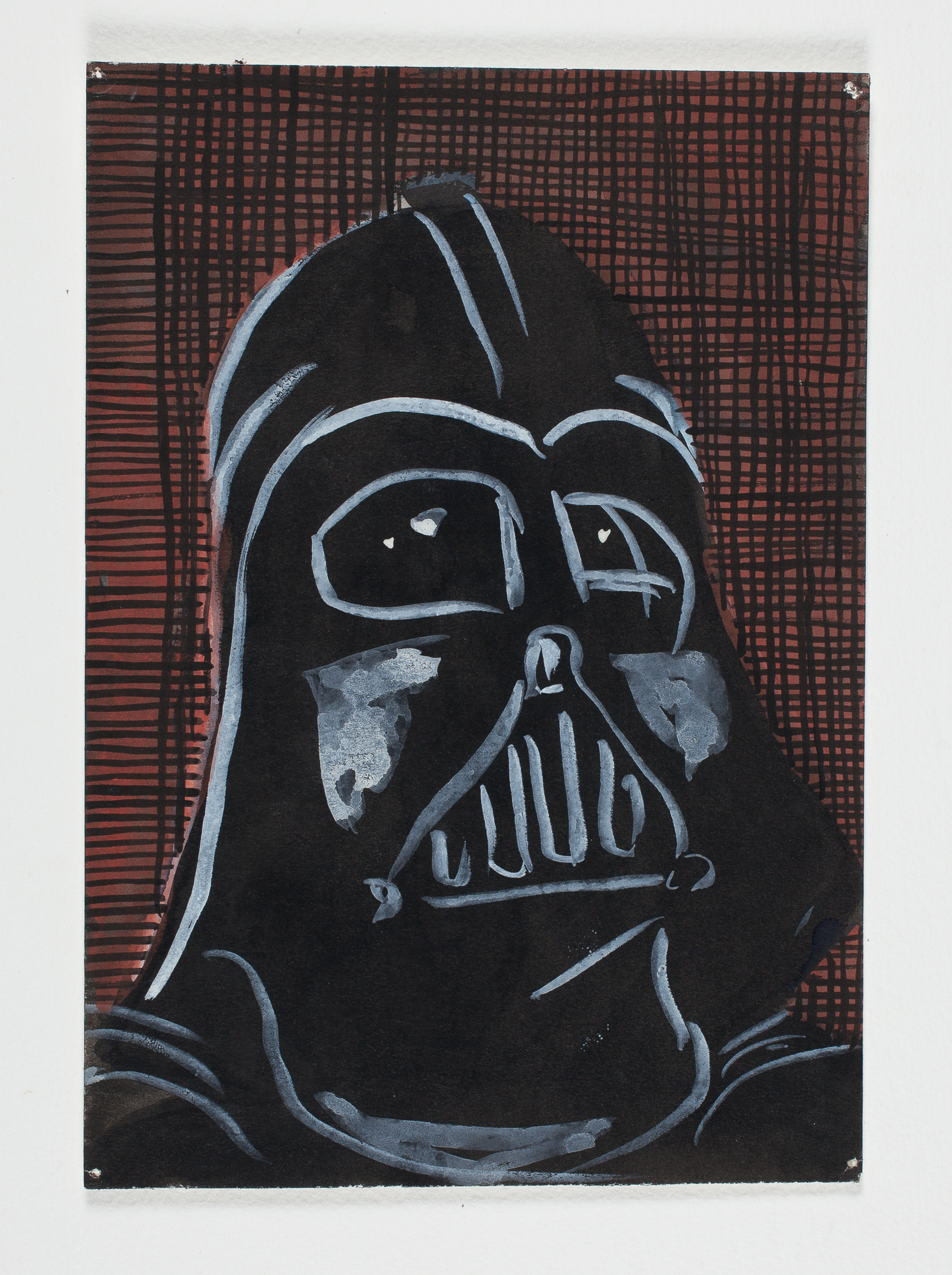 "Darth Vade  r    1998 Watercolor, Gouache + Ink 9 3/4"" x 6 3/4"""
