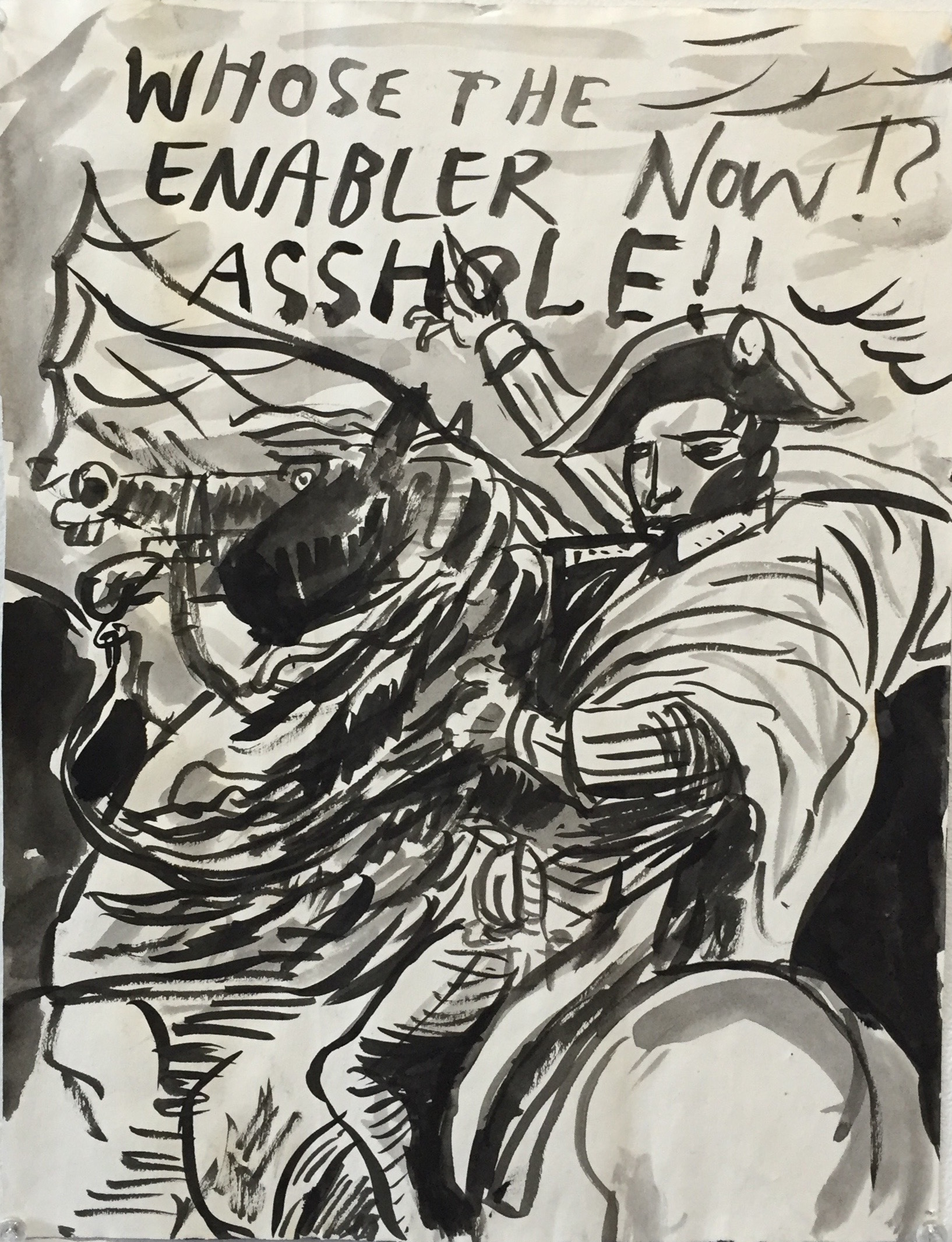 Whose the Enabler Now Asshole? Ink on Paper 1996