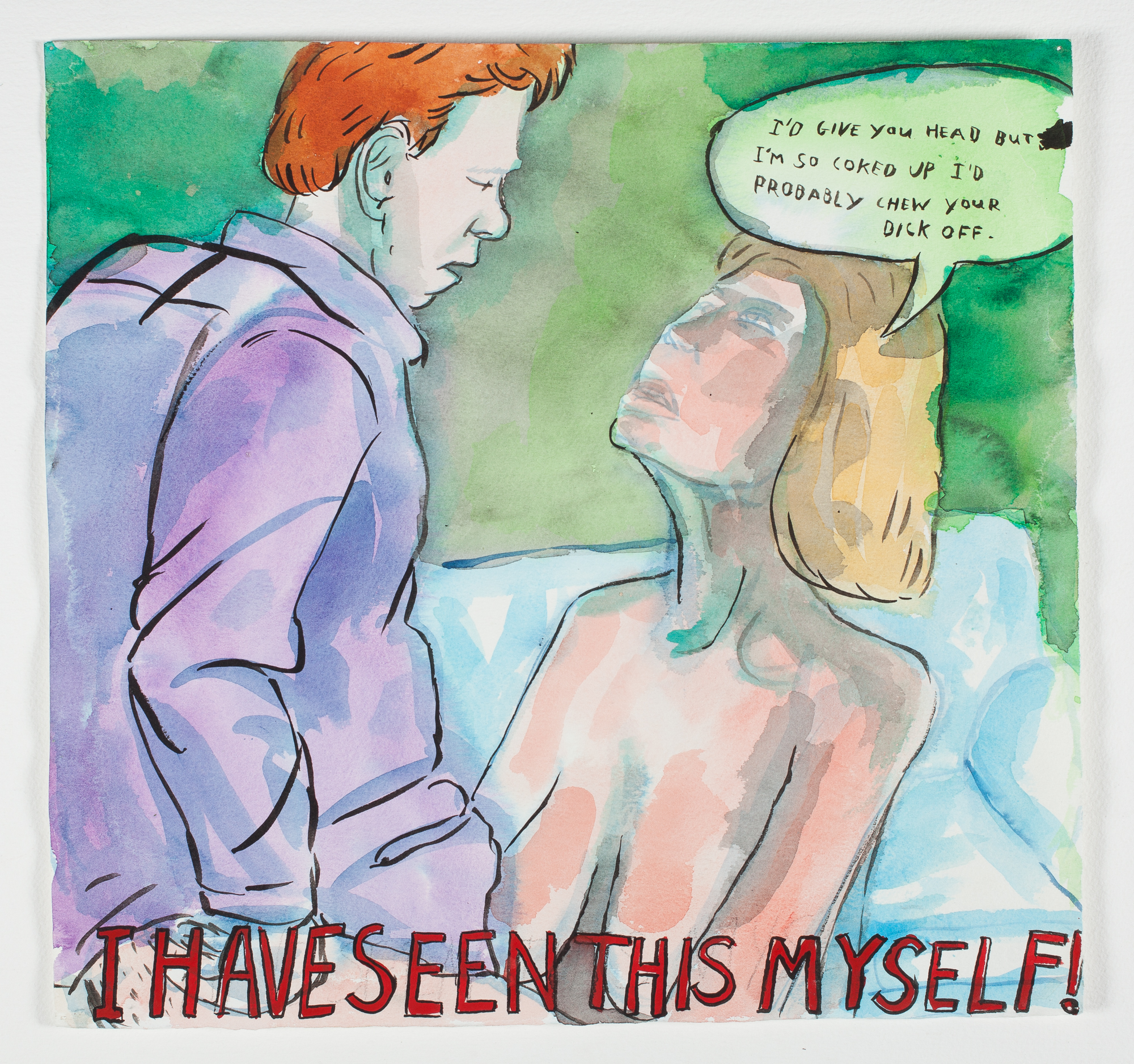 "I Have Seen This Myself    1998 Watercolor, Gouache + Ink 15"" x 141/2"""