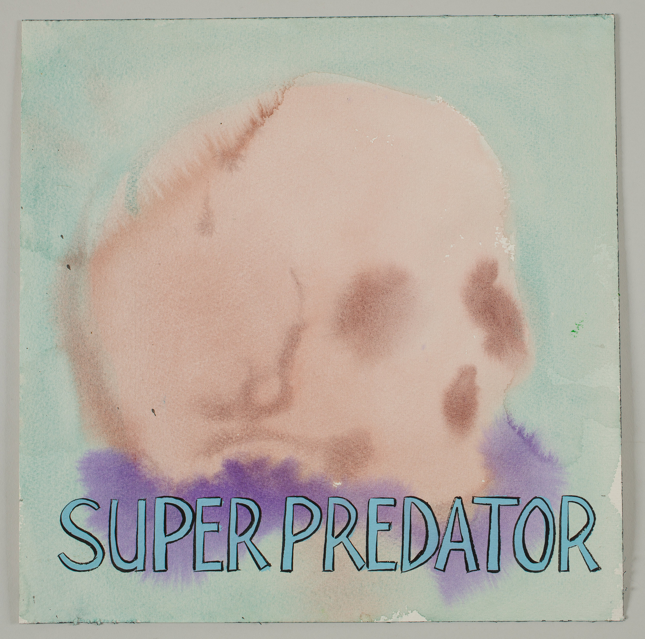 Super Predator  2016 watercolor, gouache and ink on paper