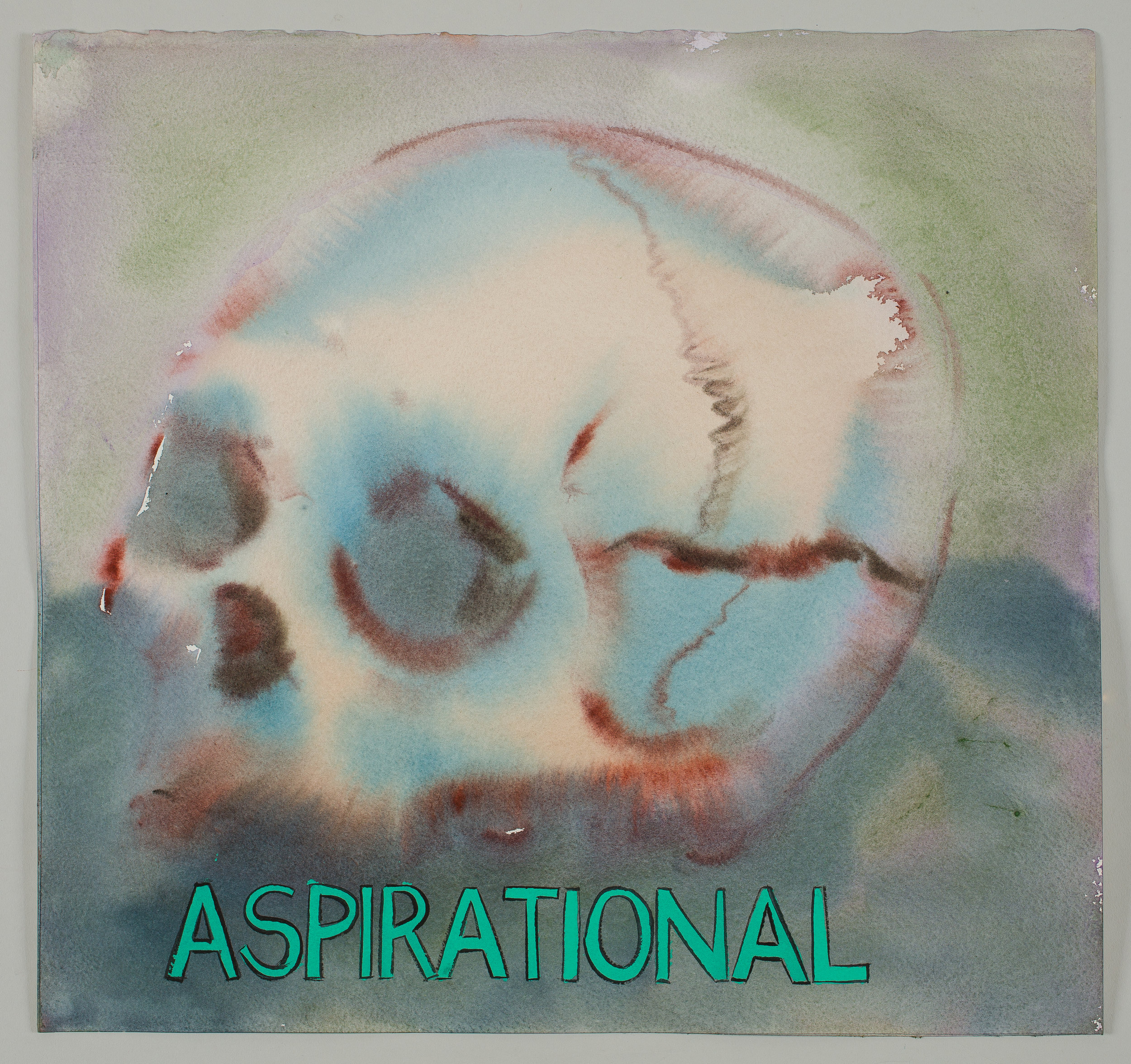 Aspirational  2016 watercolor, gouache and ink on paper 15x16""