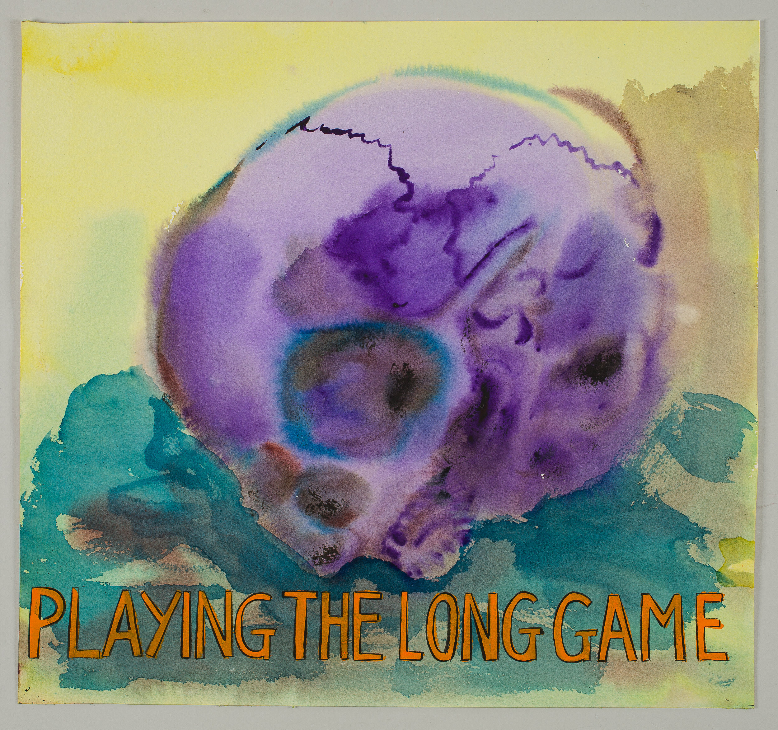 Playng the Long Game  2016 watercolor, gouache and ink on paper