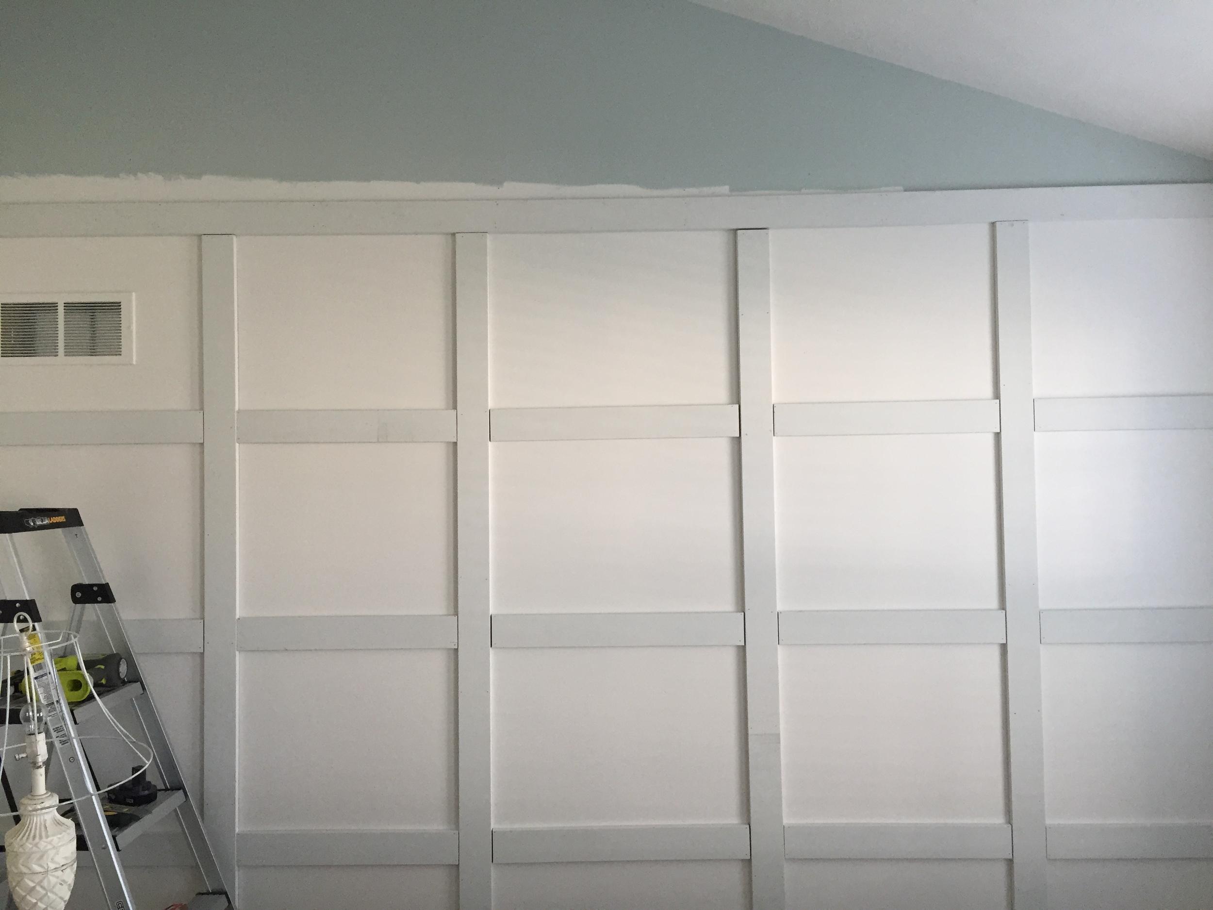 DIY wood panel wall