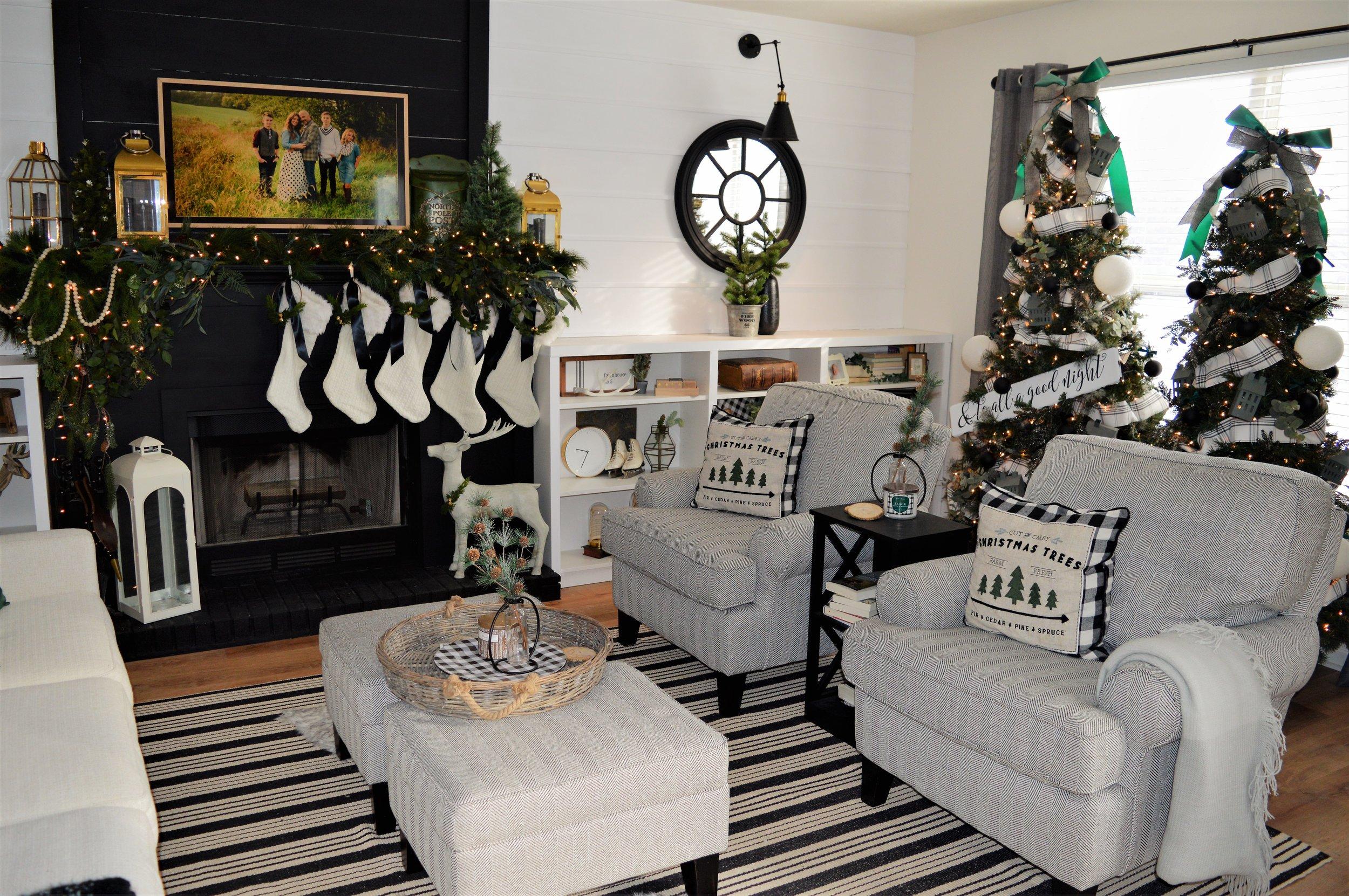 Christmas Living Room modern