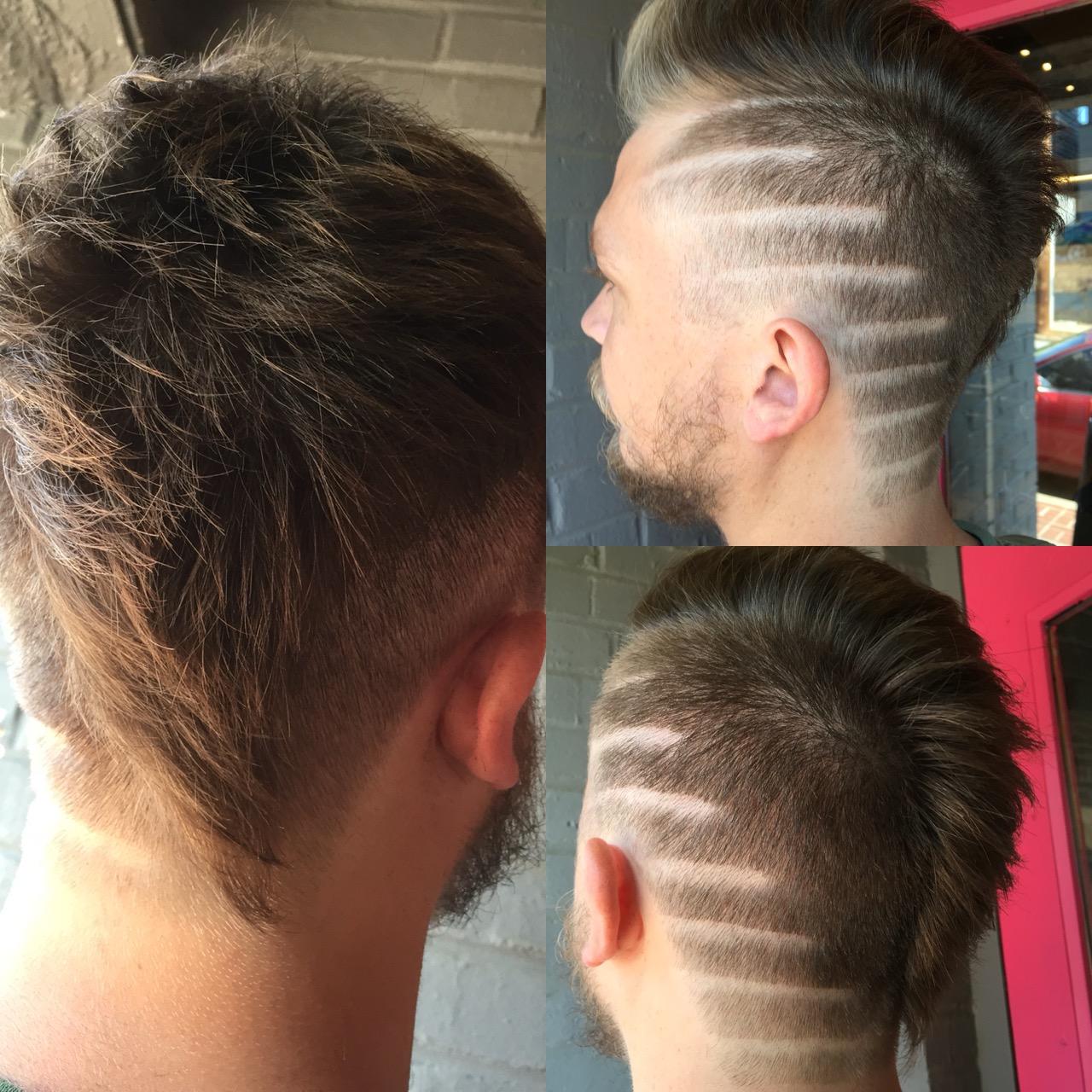 mens undercut side shave mohawk