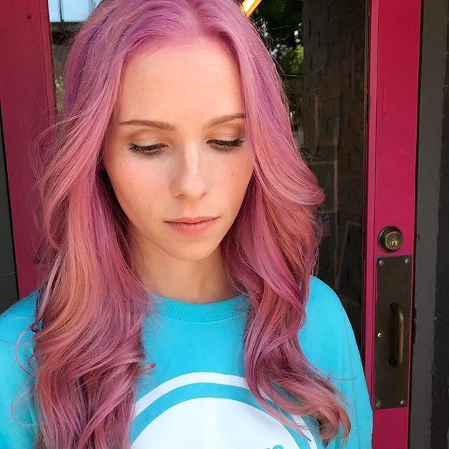 Pretty in Pink! 💗💗💗 #jshermansalon #unicorntribe #pulpriot #pinkhair #rosehair #atlhair #atlantahairstylist #mermaidhair #pinkhairdontcare #hairtrends2018 #atlanta #ponceyhighlands