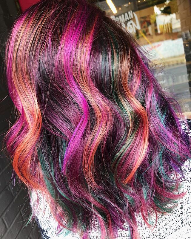 Late night post💕🔮🧡 Who else hates a caption?! I mean for real 😳 #jshermansalon #unicorntribe #arthair #atlhair #atlhairstylist