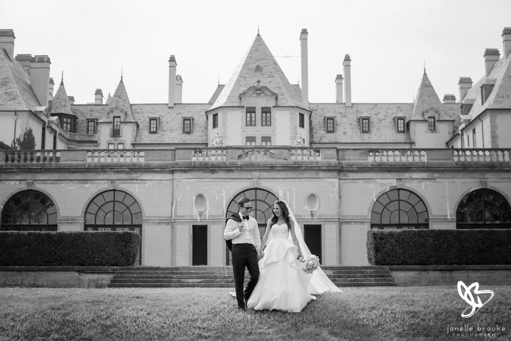 Lauren & Allan's wedding at Oheka Castle - June 2017.  Beautiful photo taken by Janelle Brooke Photography