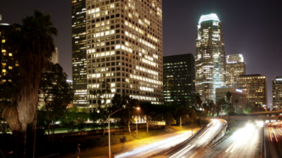 Los Angeles Freeway Time Lapse