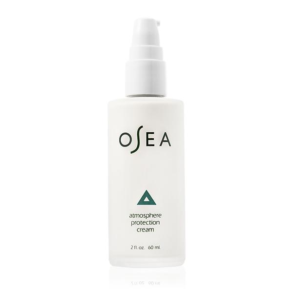 OSEA ATMOSPHERE PROTECTION CREAM - LIGHTWEIGHT, DAILY MOISTURIZER THAT HYDRATES & PROTECTSALL-NATURALVEGANCRUELTY-FREEUSDA CERTIFIED ORGANIC ALGAE, SHEA BUTTER AND AVOCADO OILFIRM SKIN LEAVING A MATTE, SILKY FINISH.NATURAL FRAGRANCE OF PURE LAVENDER AND GERANIUM.MAY BE USED AS A PRIMER FOR FLAWLESS MAKEUP APPLICATION OR BEFORE APPLYING SUNSCREEN.