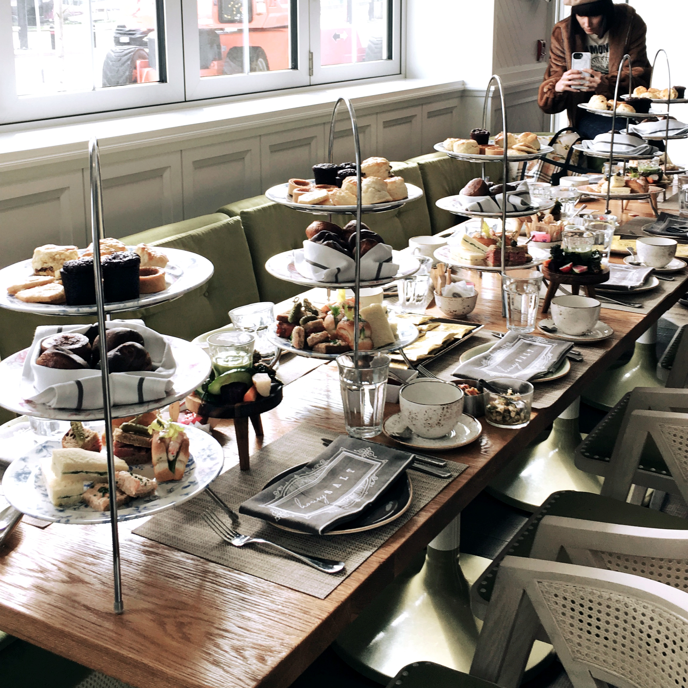 Welcome afternoon tea - CARAS/JUNO Team Introduction at Honey Salt, located at Parq Vancouver.Got to enjoy some lovely conversations over their finest teas, savory bites, sweet tiers and the most delicious crepes!I absolutely stuffed my face with carbs and felt like I had a food baby after. #TreatYoSelf