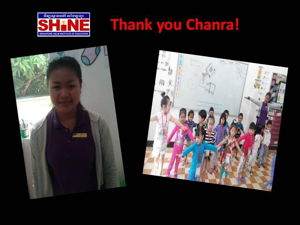 Thank you Chanra!