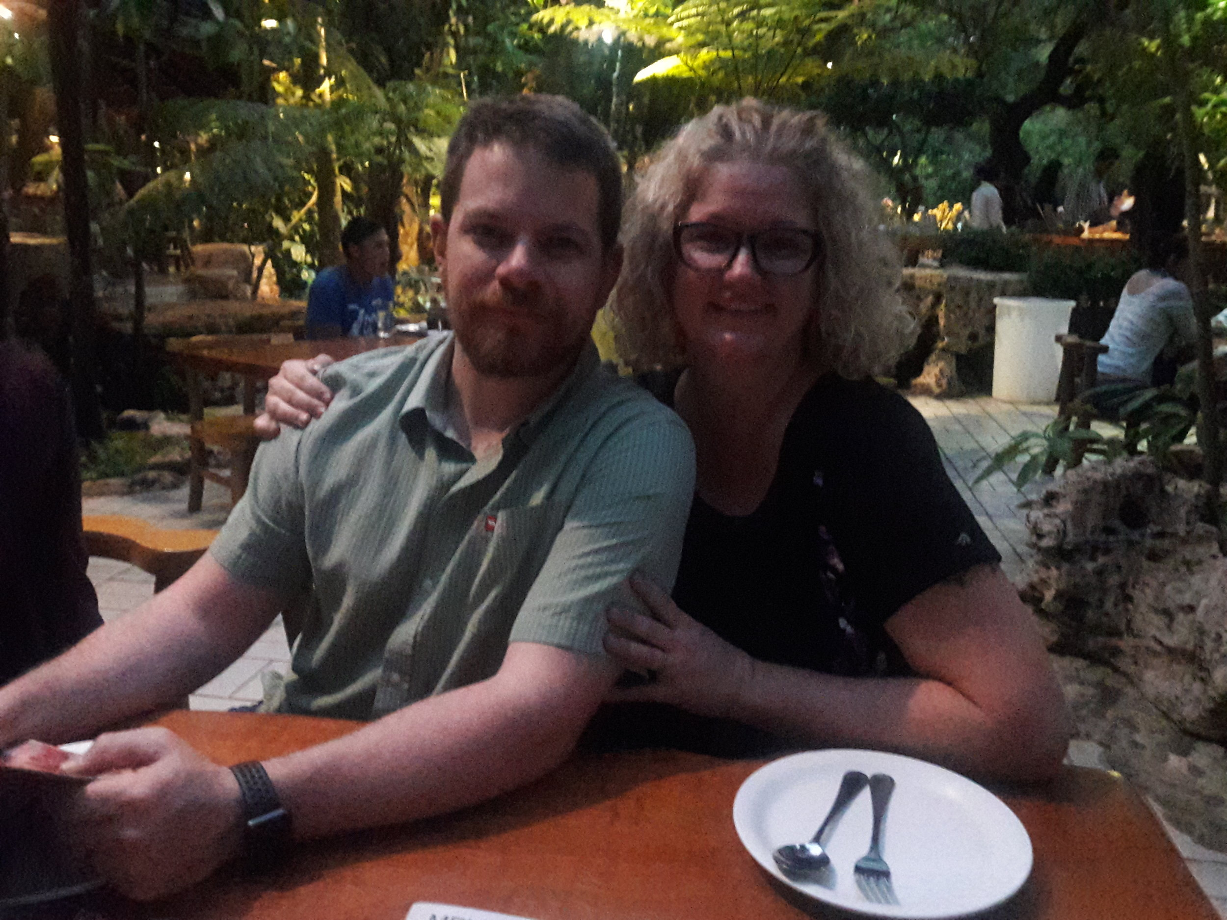 Tracy and Bryan's final dinner at Khaomao-Khaofang in Mae-Sot Thailand before heading home.