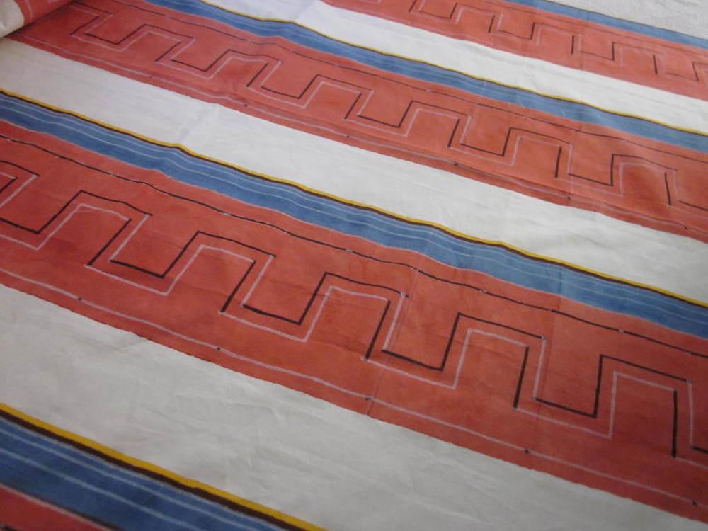 meander // Castello di Potentino hand blocked cotton-linen