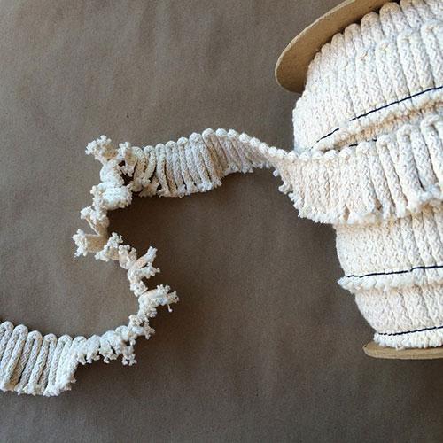 Anchor Cut Fringe Natural Cotton