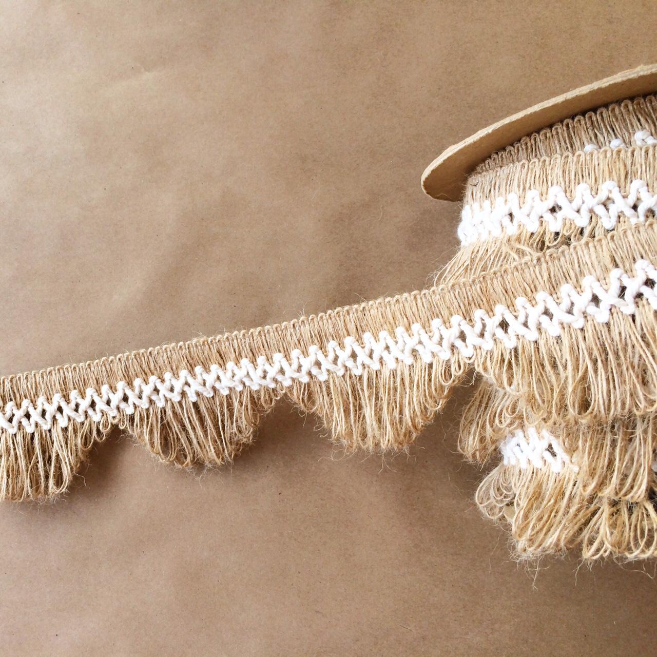 """3"""" Scallop Lace Fringe Natural Cotton"""