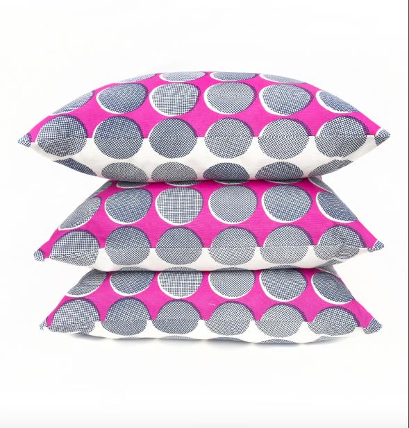 Spots & Dots Pink Navy