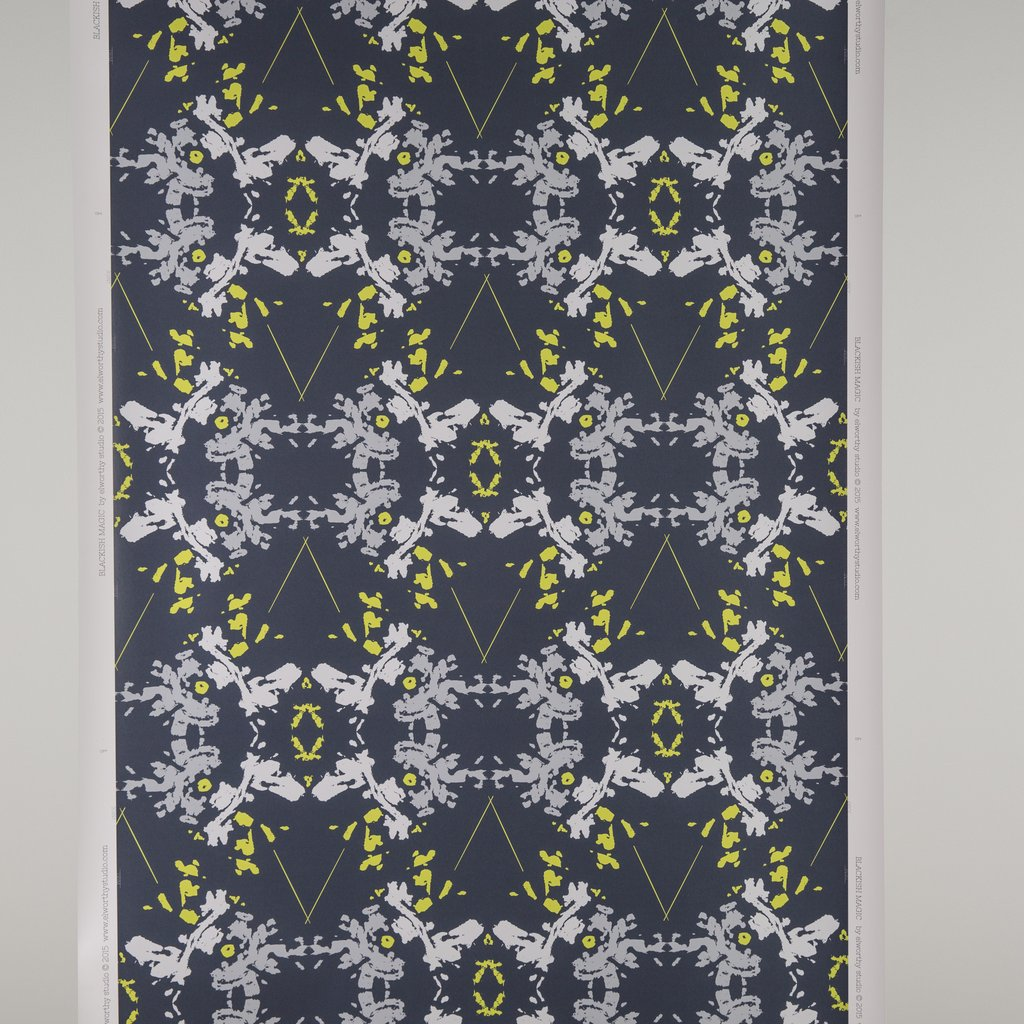 Blackish Magic Midnight Chartreuse wallpaper
