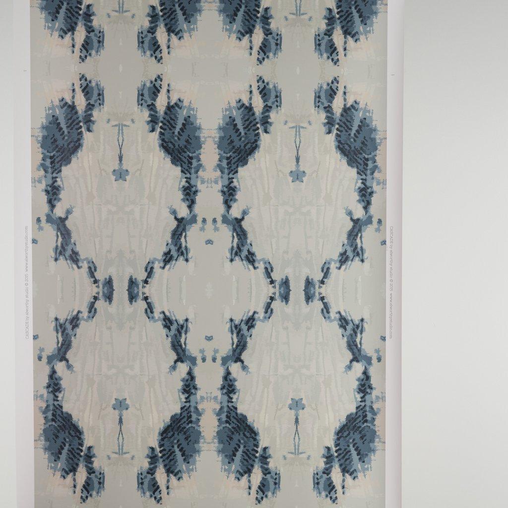 Cascade Indigo wallpaper