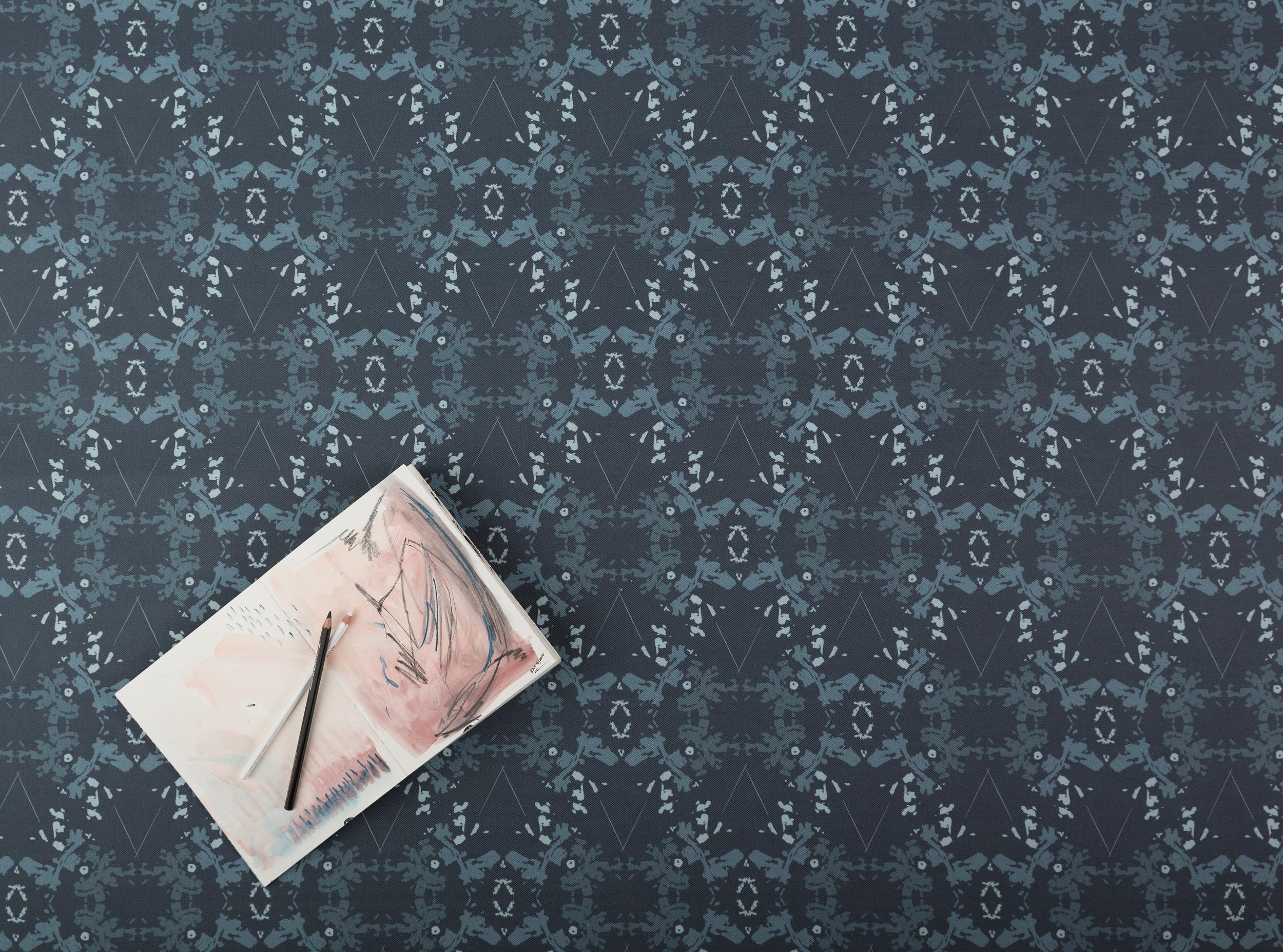 Blackish Magic Indigo fabric