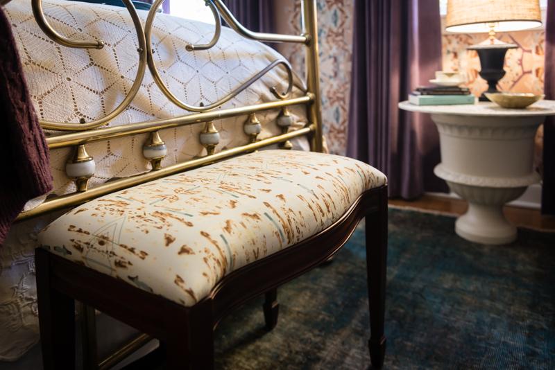 Sepia Upholstered Bench