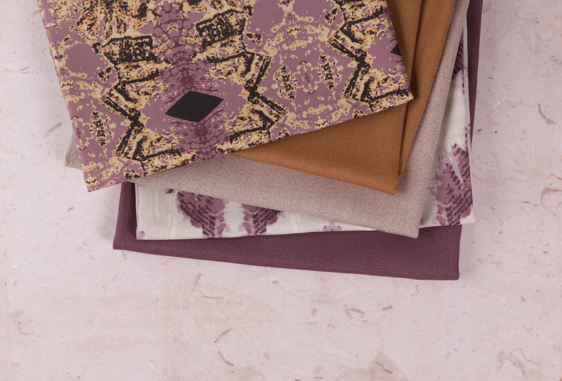 Elworthy Studio Mauve Fabric Stack