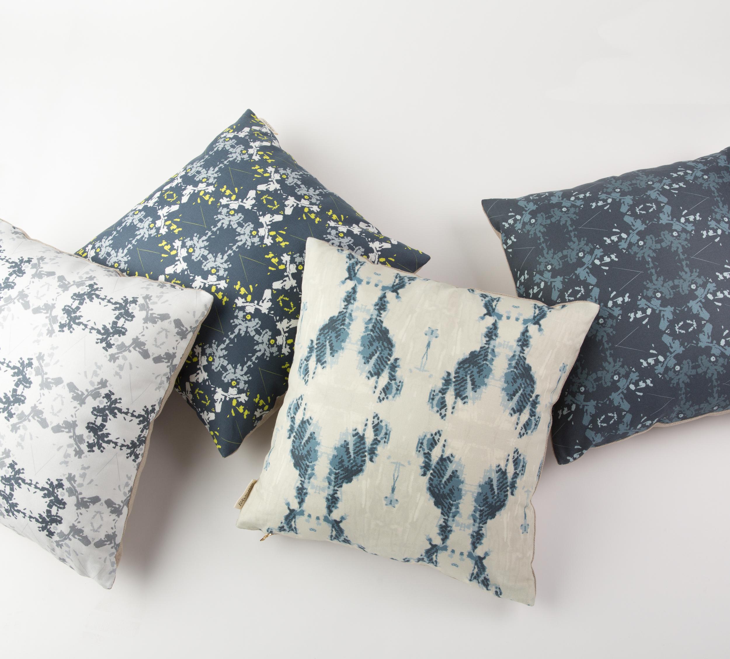 Elworthy Studio Blue Cushions