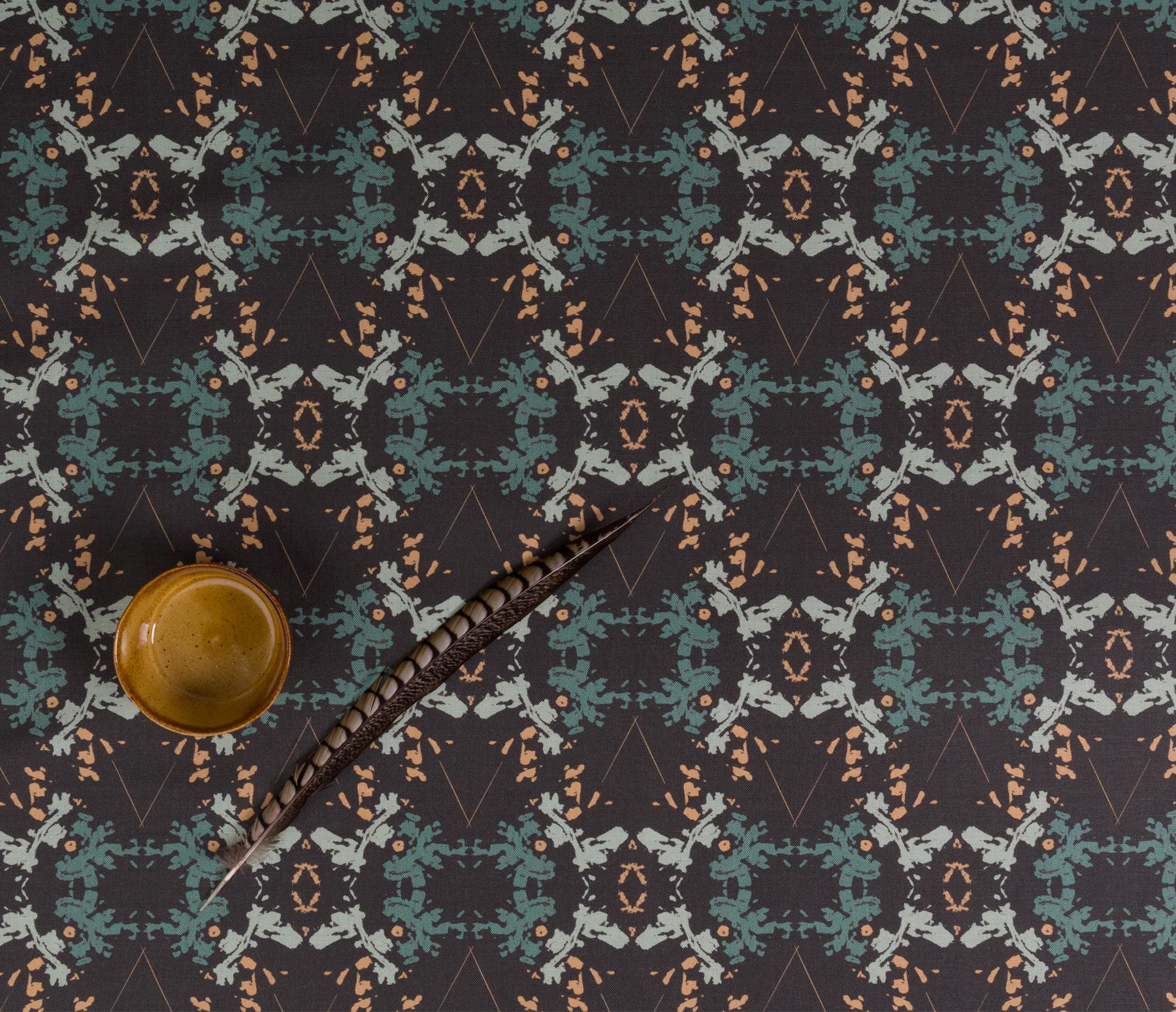 Blackish Magic Graphite fabric