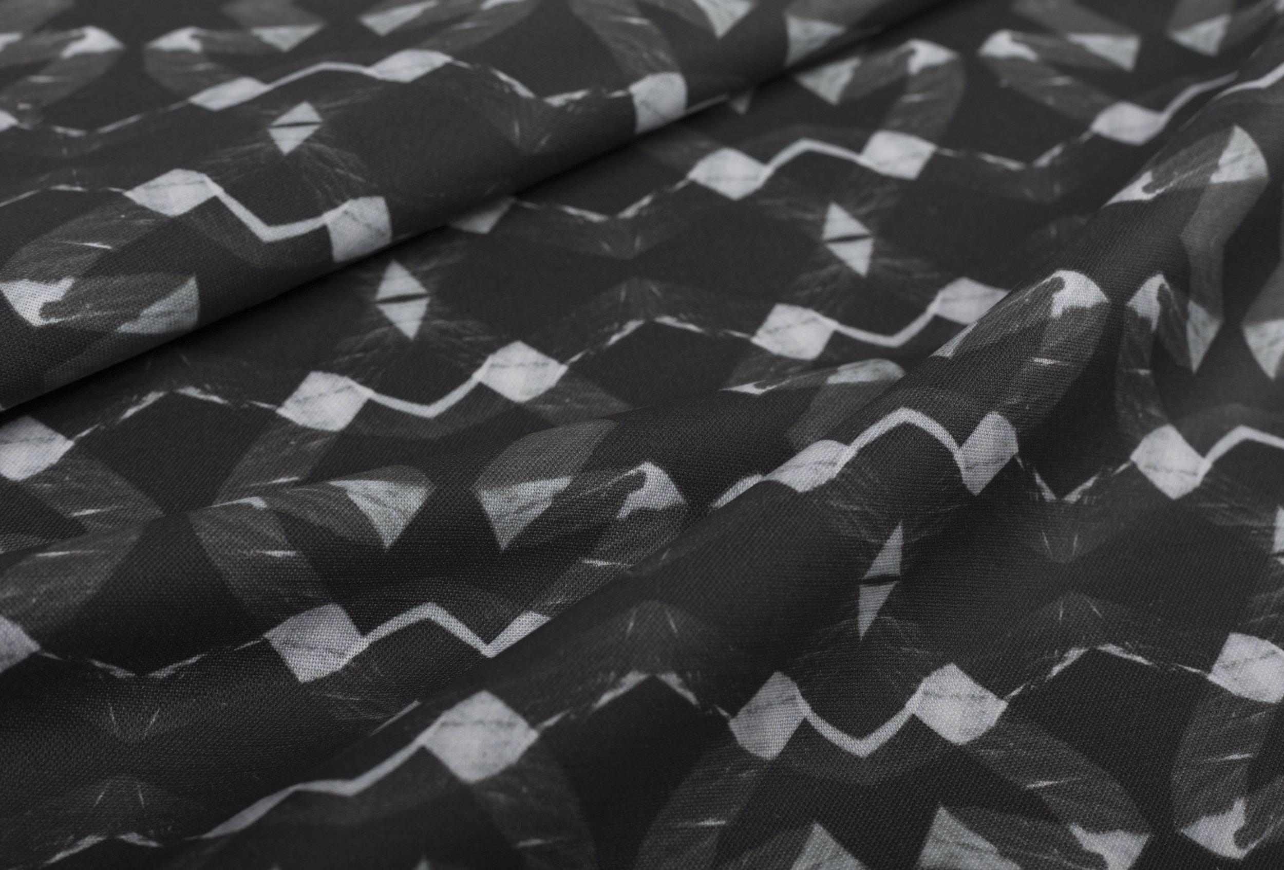 Lucina Black Fabric